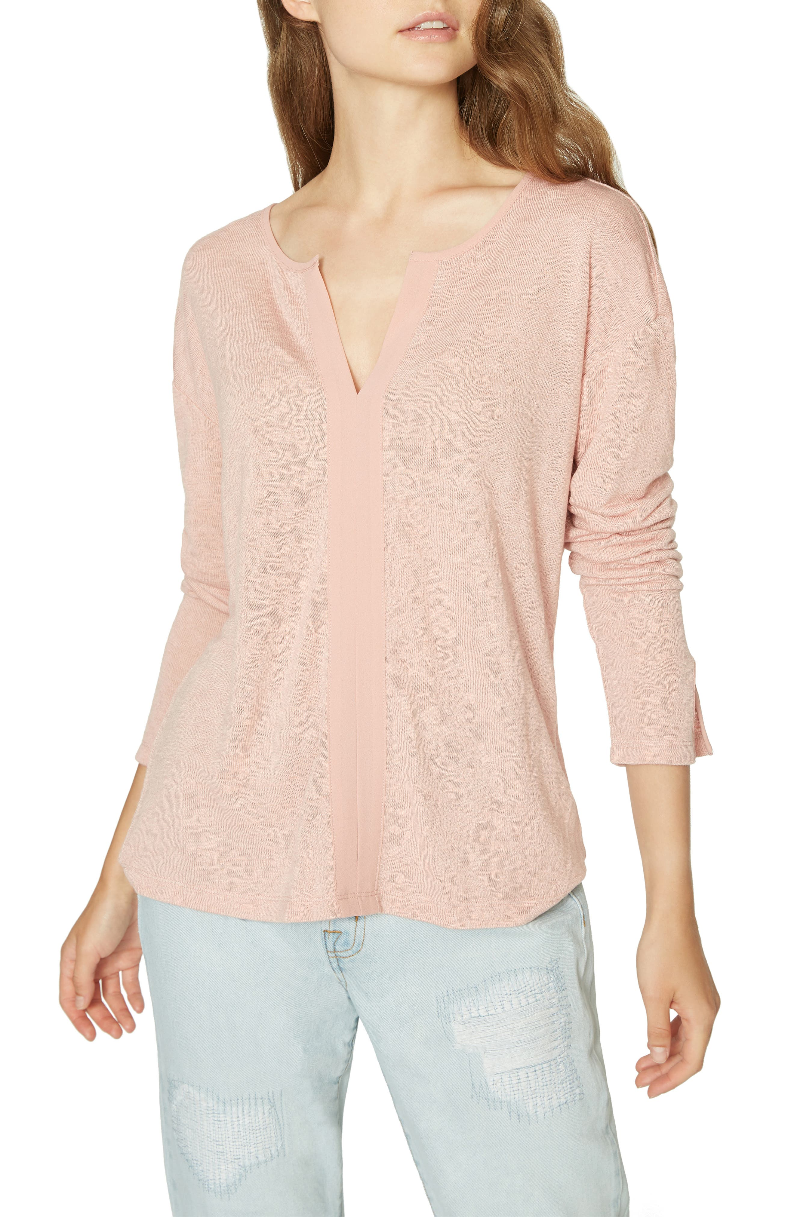 Sienna Mix Top,                         Main,                         color, PINK SCOTCH