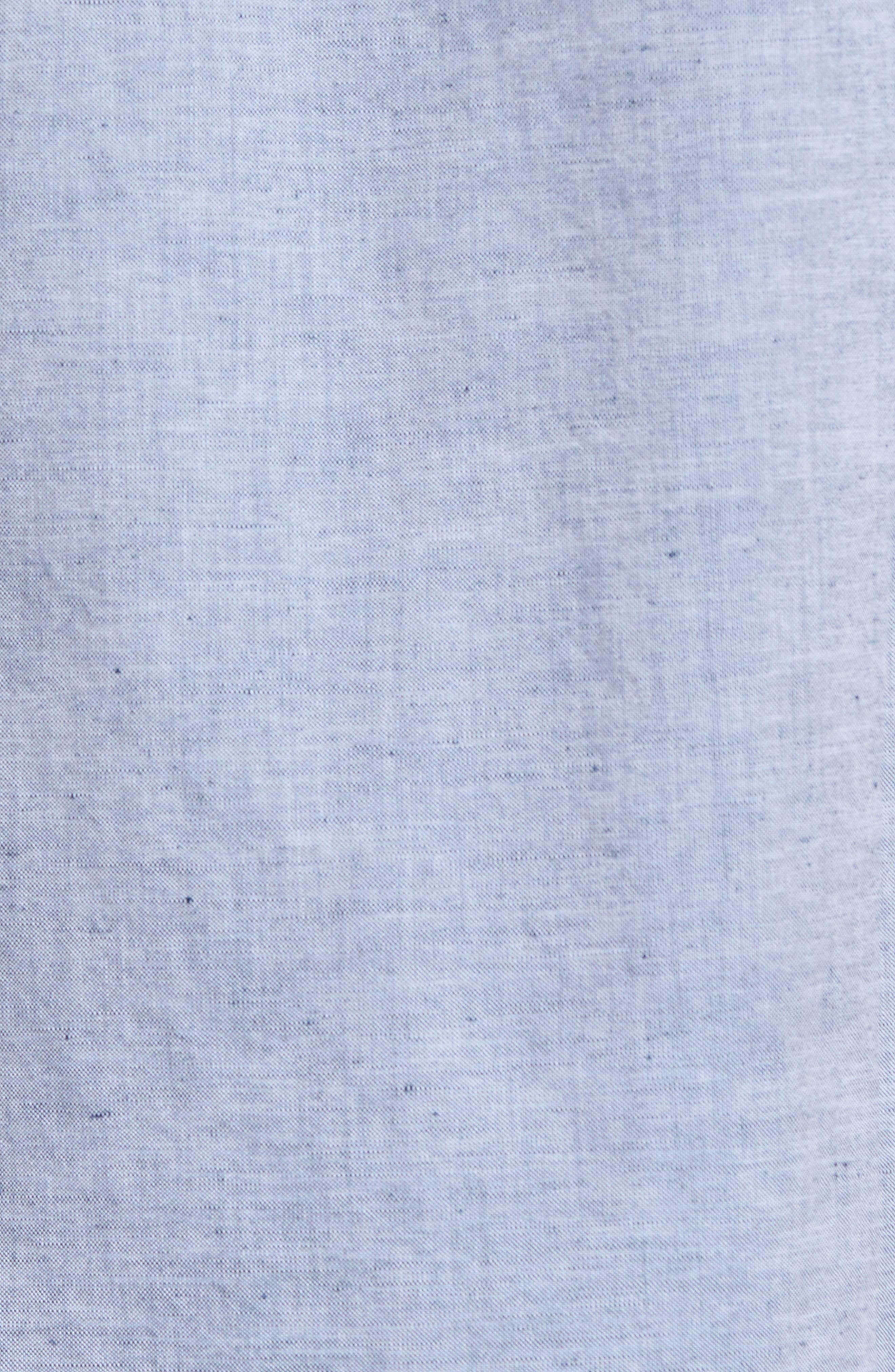 Robbie Slim Fit Linen & Cotton Shirt,                             Alternate thumbnail 5, color,                             402