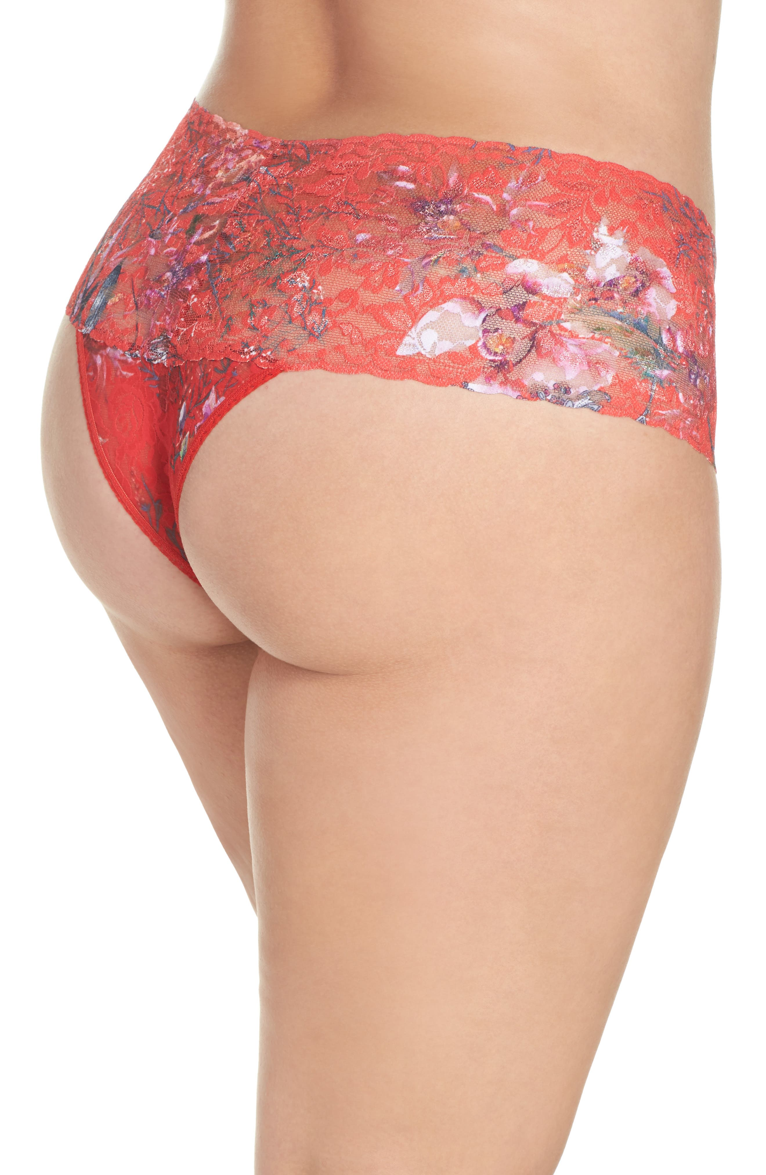 Fiery Floral Thong,                             Alternate thumbnail 2, color,                             600