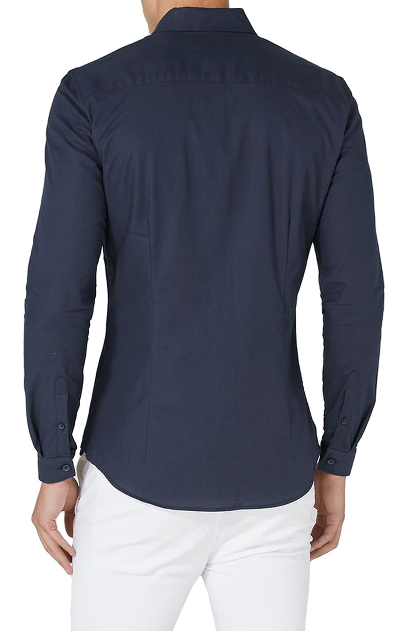 Muscle Fit Oxford Shirt,                             Alternate thumbnail 6, color,