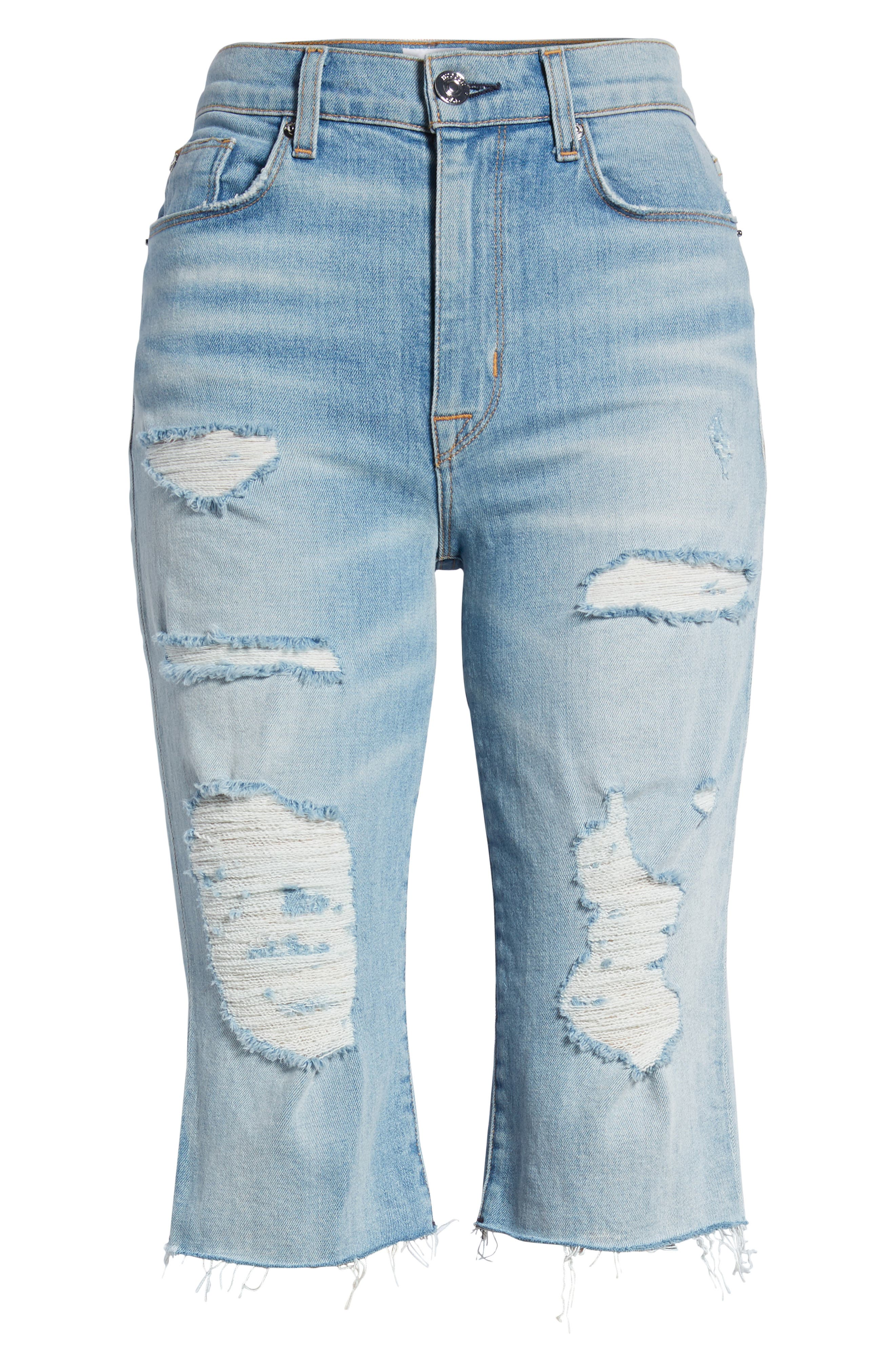 Zoeey High Waist Cutoff Boyfriend Shorts,                             Alternate thumbnail 7, color,                             420