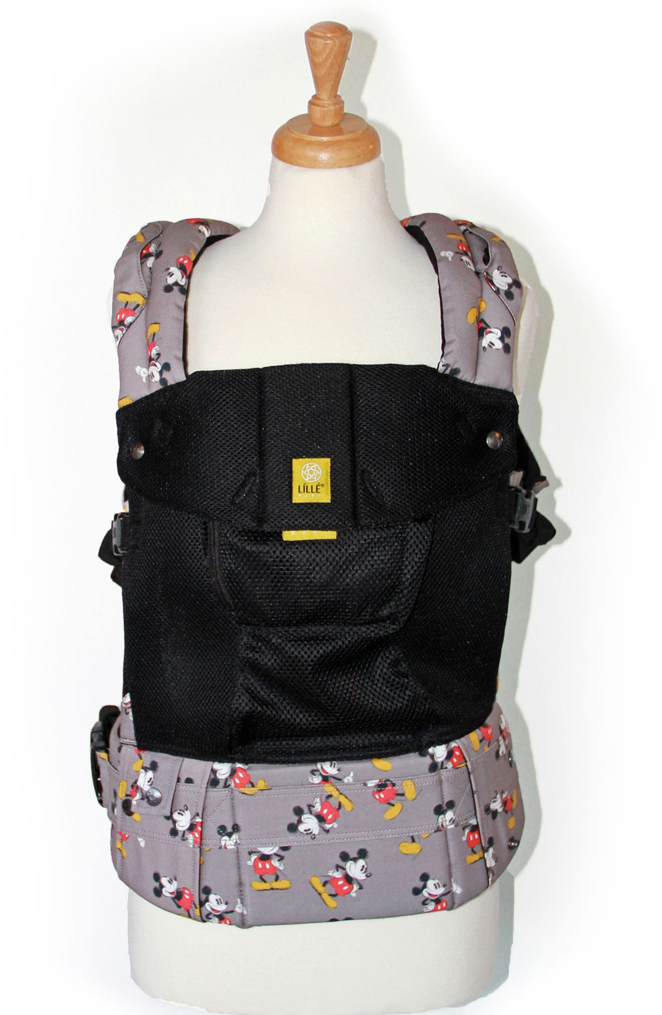 x Disney<sup>®</sup> Complete Airflow - Mickey Mouse Classic Baby Carrier,                             Alternate thumbnail 2, color,                             BLACK