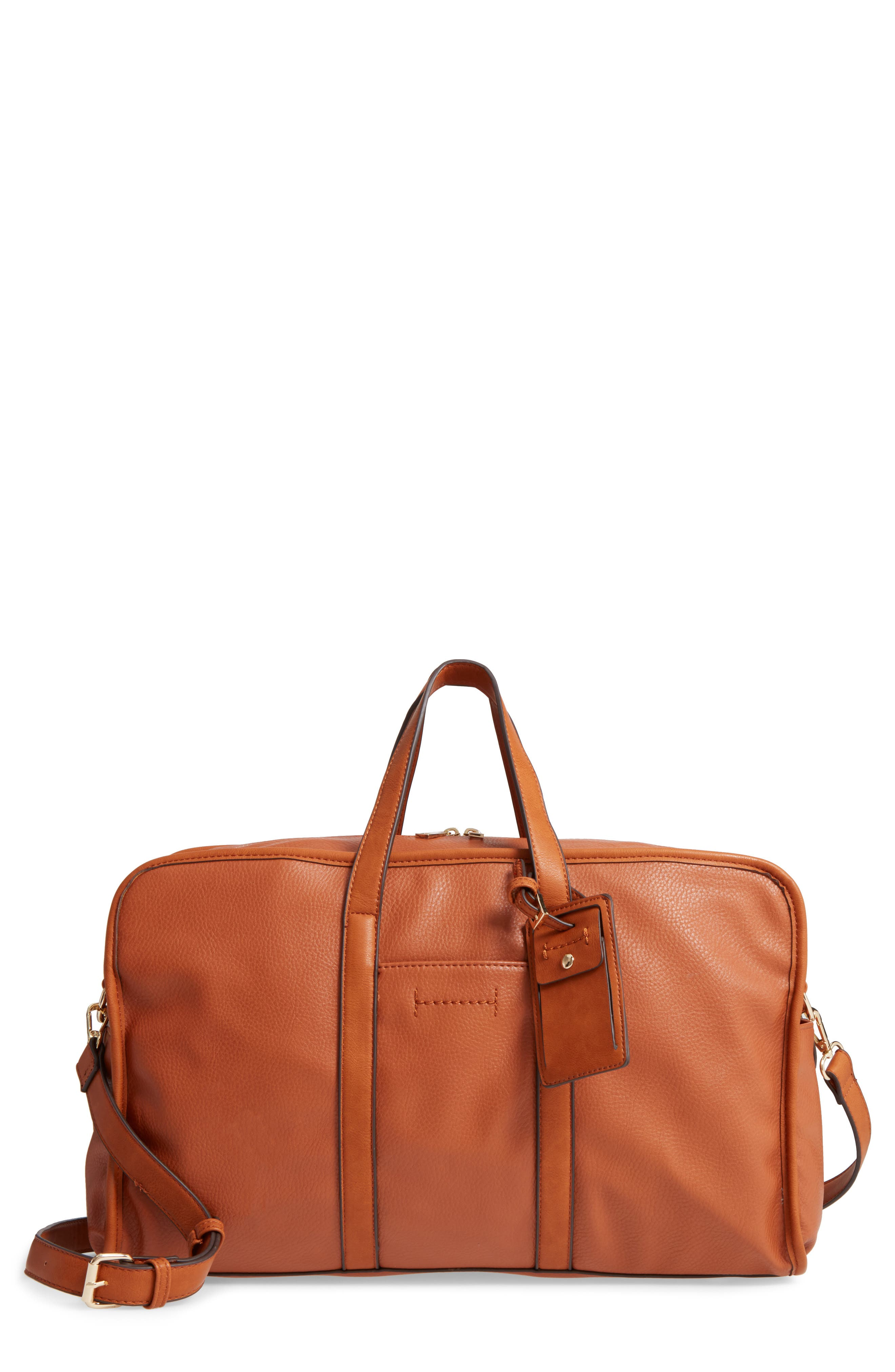 Doxin Faux Leather Duffel Bag,                             Main thumbnail 2, color,