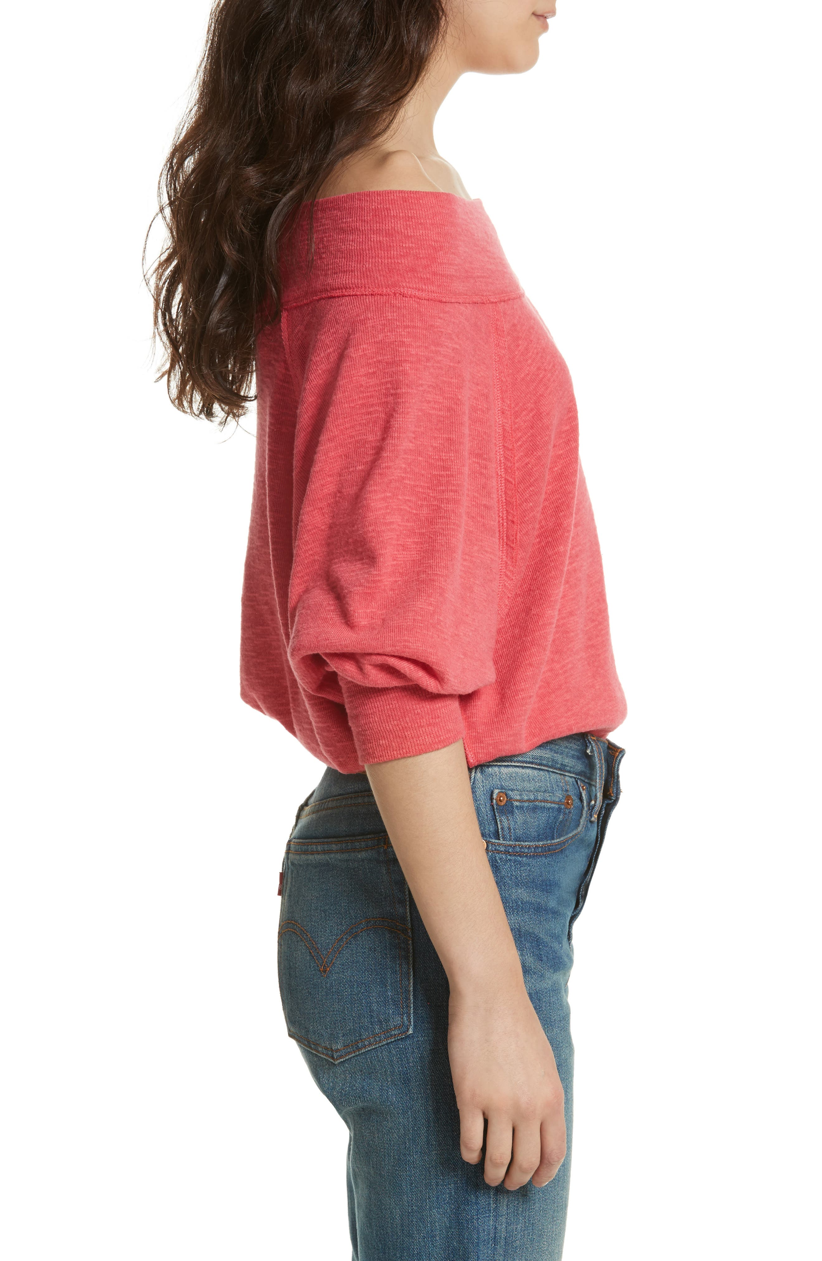 Palisades Off the Shoulder Top,                             Alternate thumbnail 23, color,