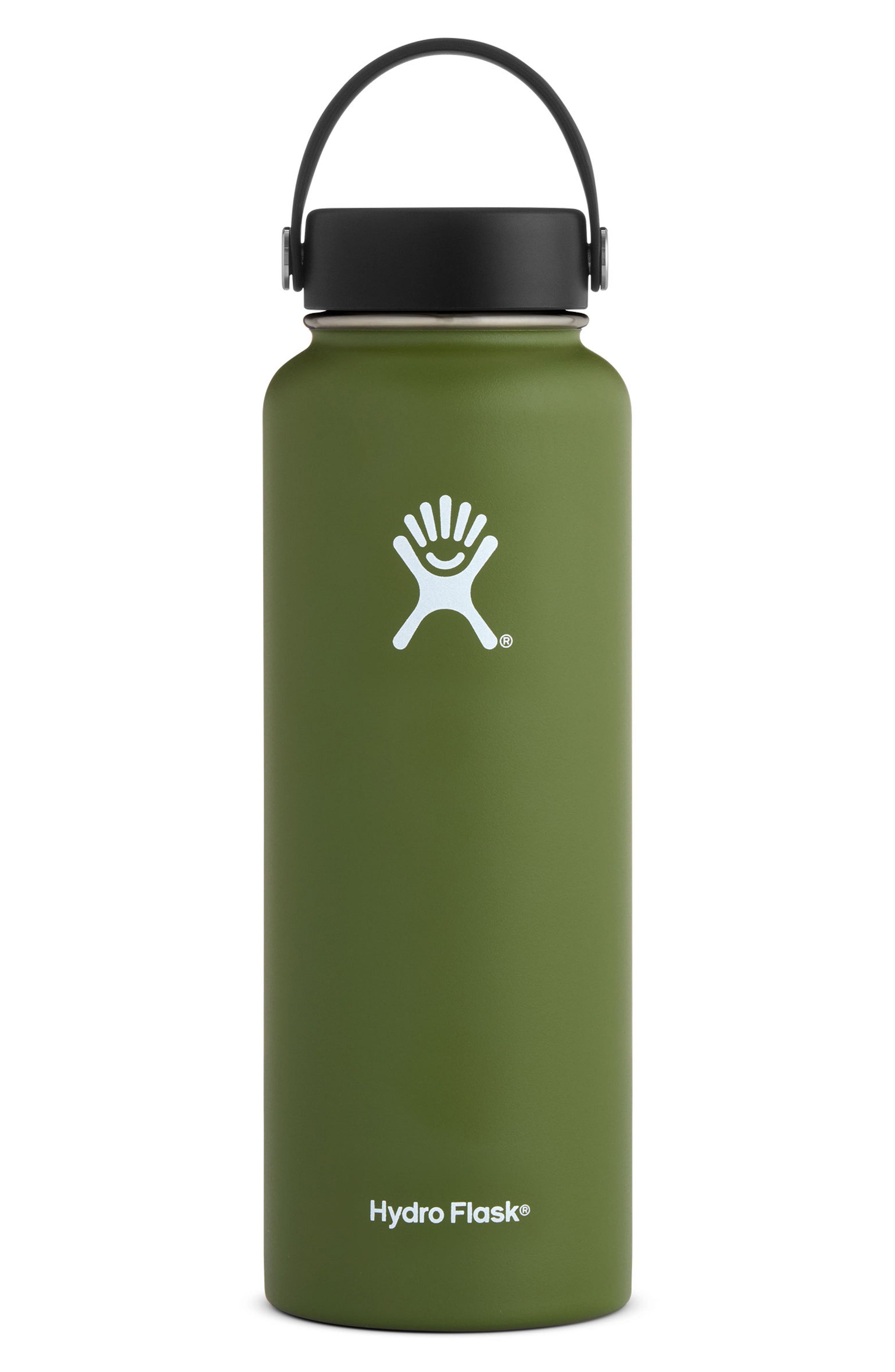 40-Ounce Wide Mouth Cap Bottle,                         Main,                         color, OLIVE