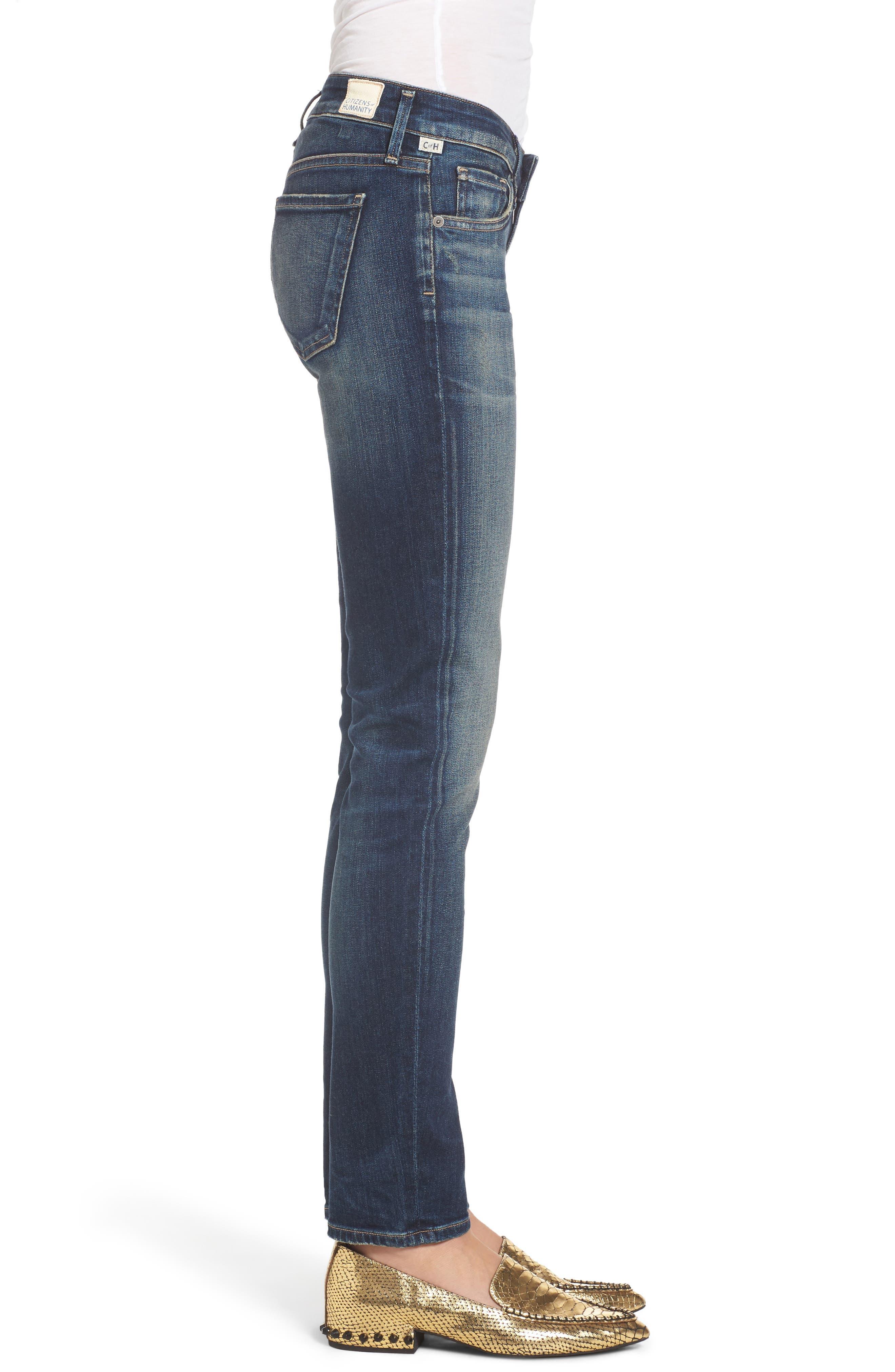 Racer Whiskered Skinny Jeans,                             Alternate thumbnail 3, color,                             403