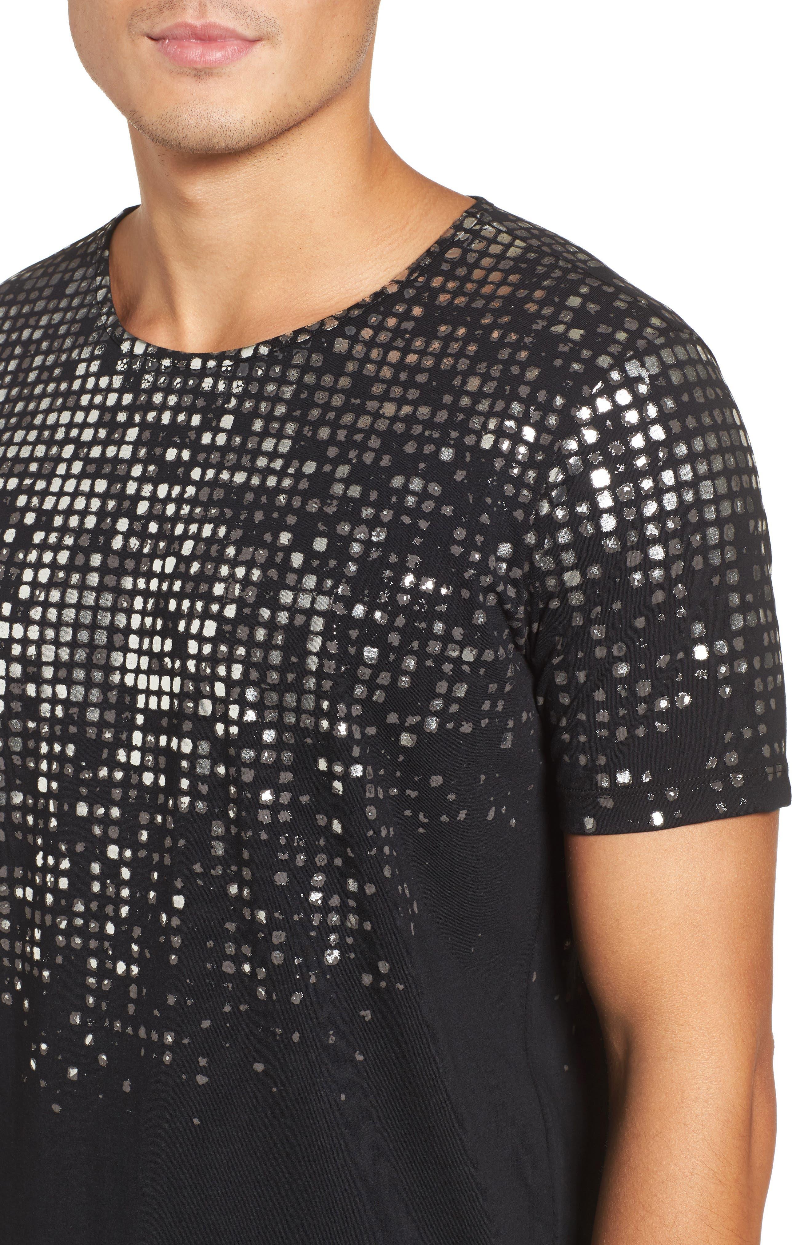 HUGO Silver Detail T-Shirt,                             Alternate thumbnail 4, color,                             001