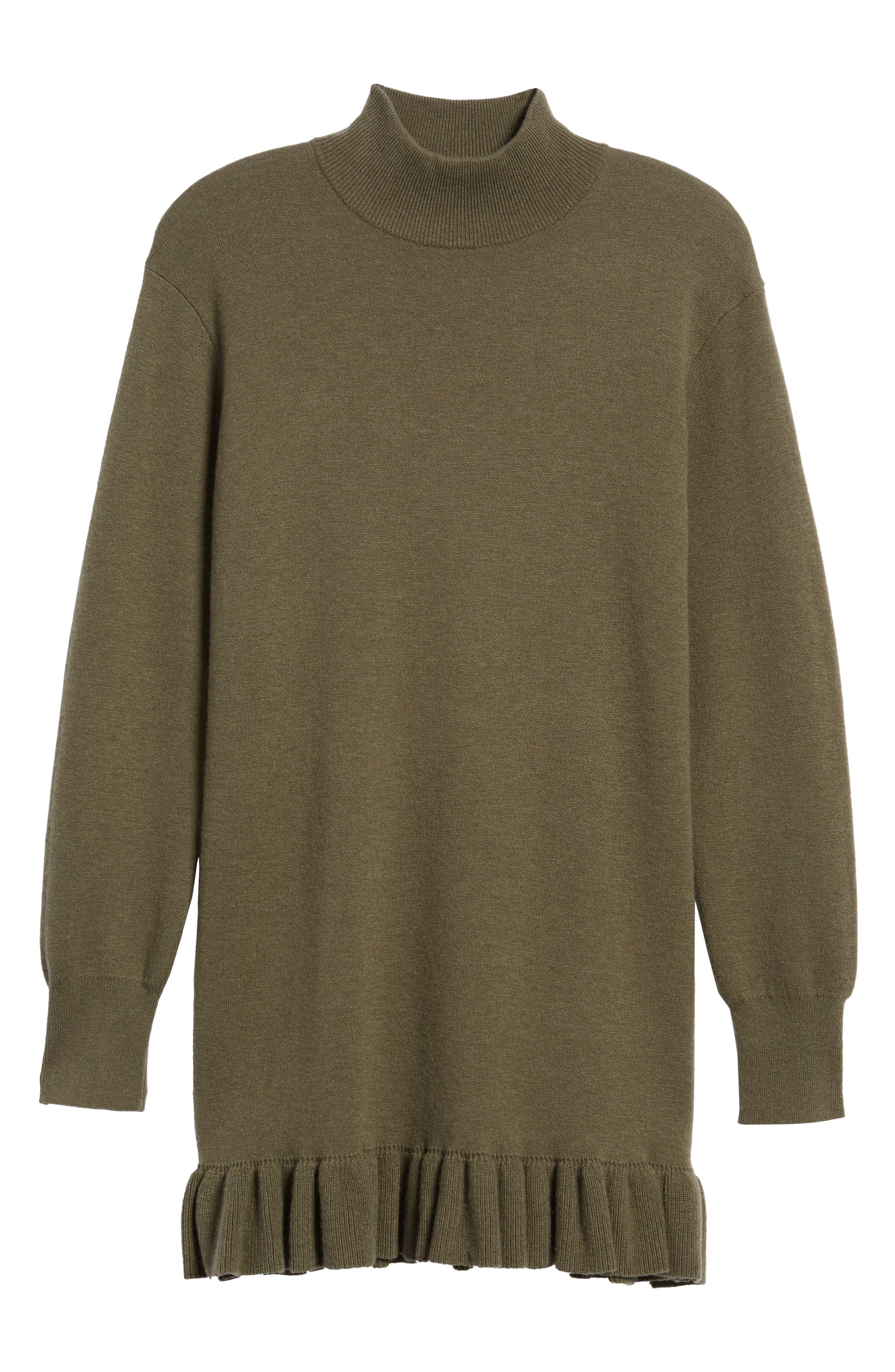 Ruffle Hem Cashmere Blend Tunic,                             Alternate thumbnail 6, color,                             315
