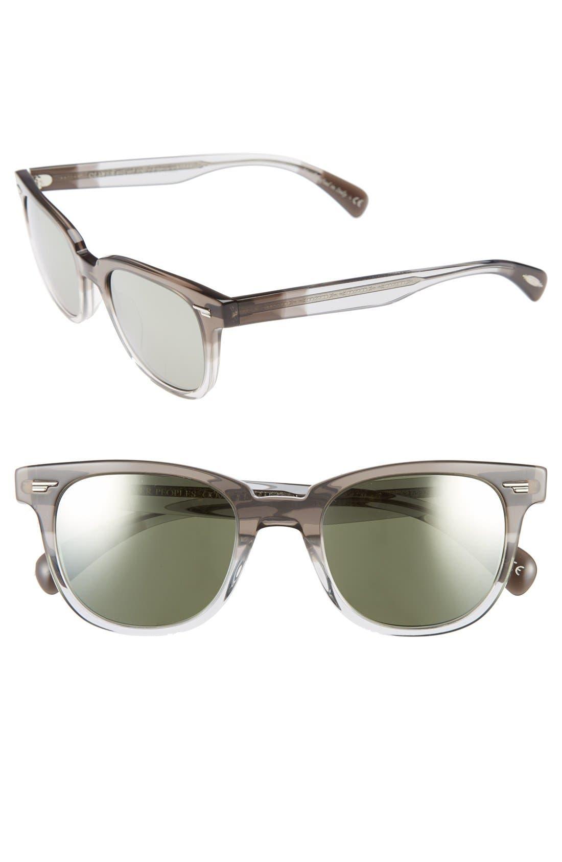 'Masek' 51mm Retro Sunglasses, Main, color, 020
