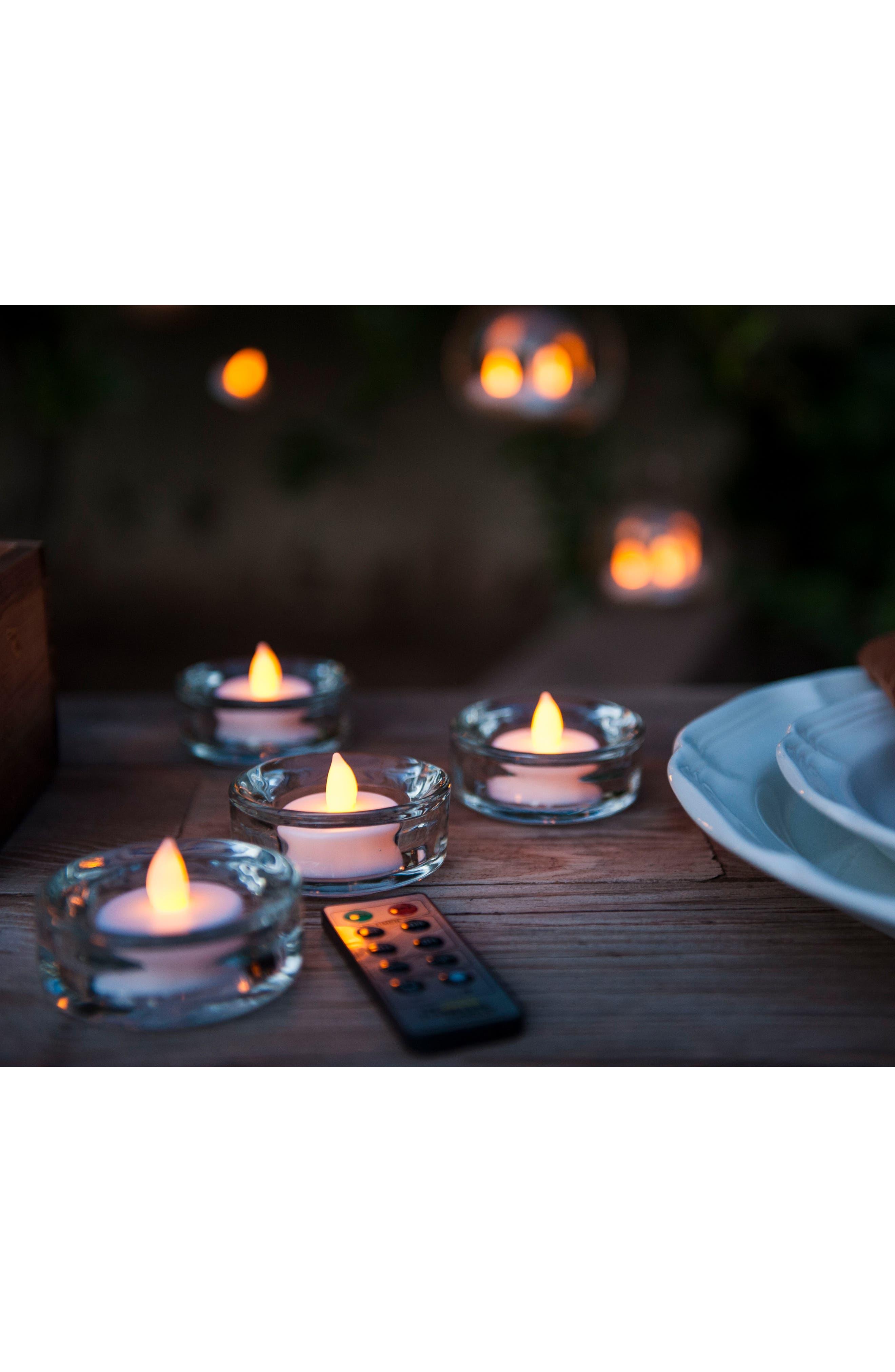 Set of 12 Flameless Tea Lights,                             Alternate thumbnail 3, color,                             100