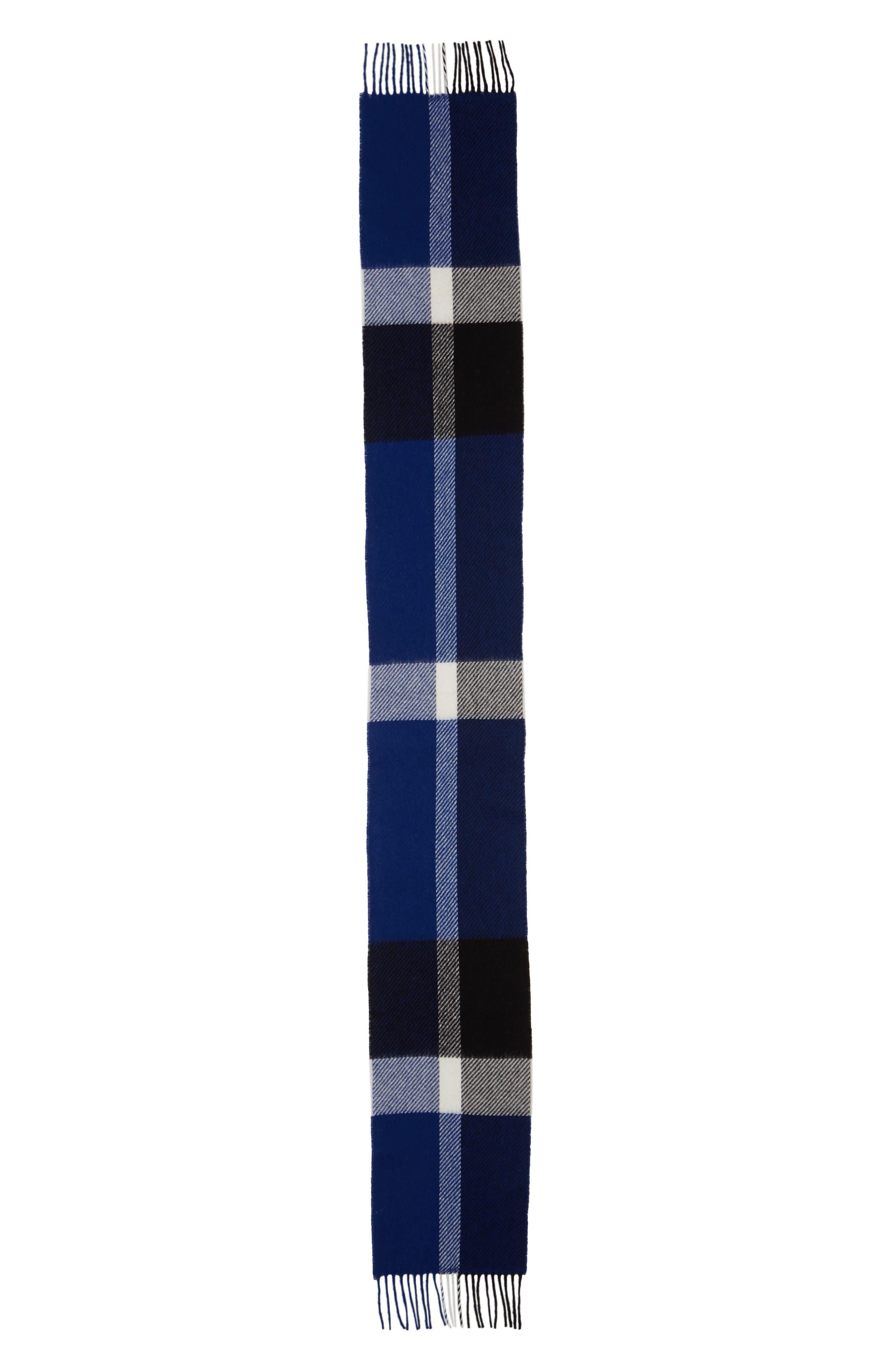 Oakwell Wool Scarf,                             Alternate thumbnail 2, color,                             BLUE/ BLACK