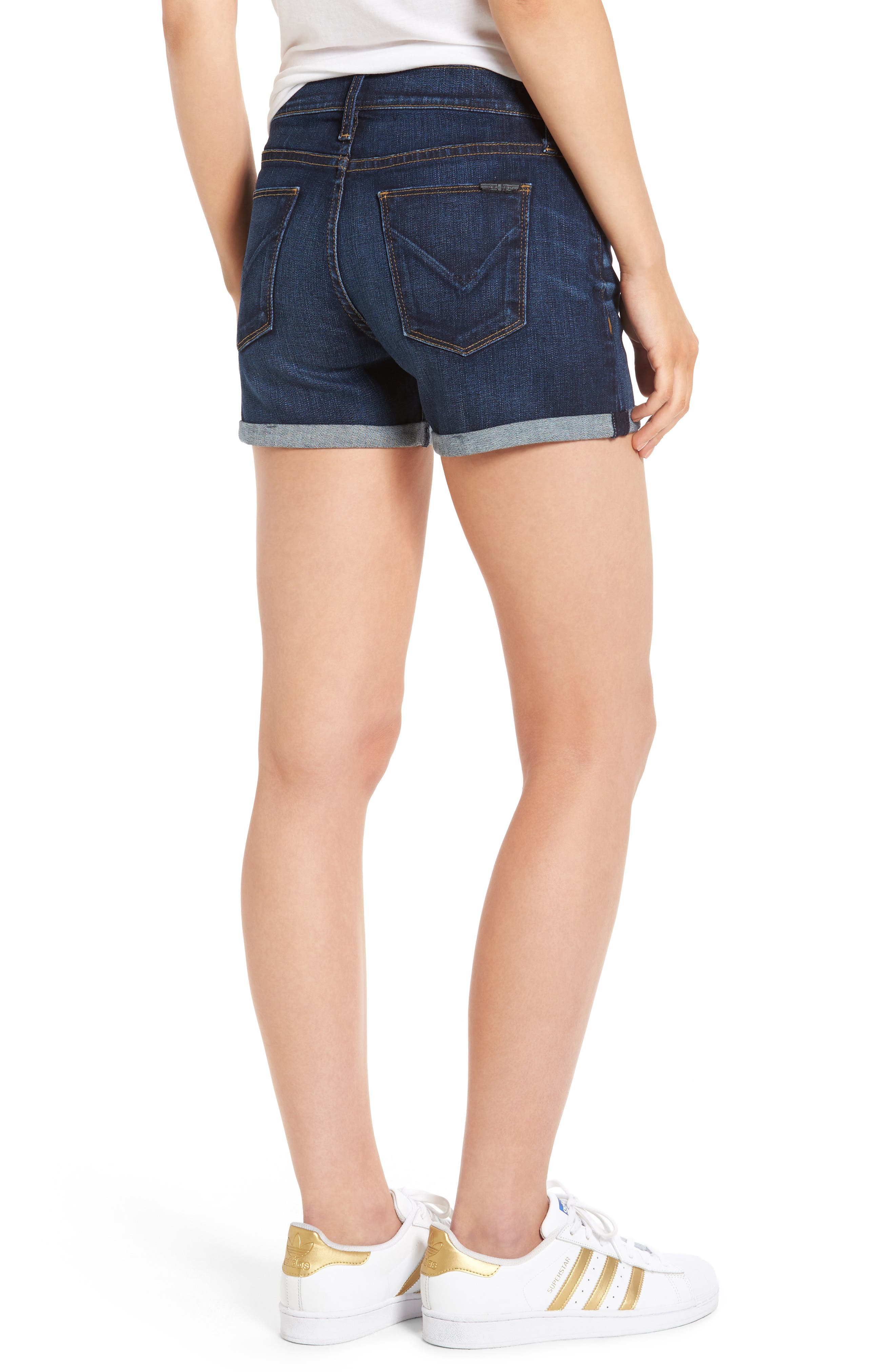 Asha Denim Shorts,                             Alternate thumbnail 2, color,                             401