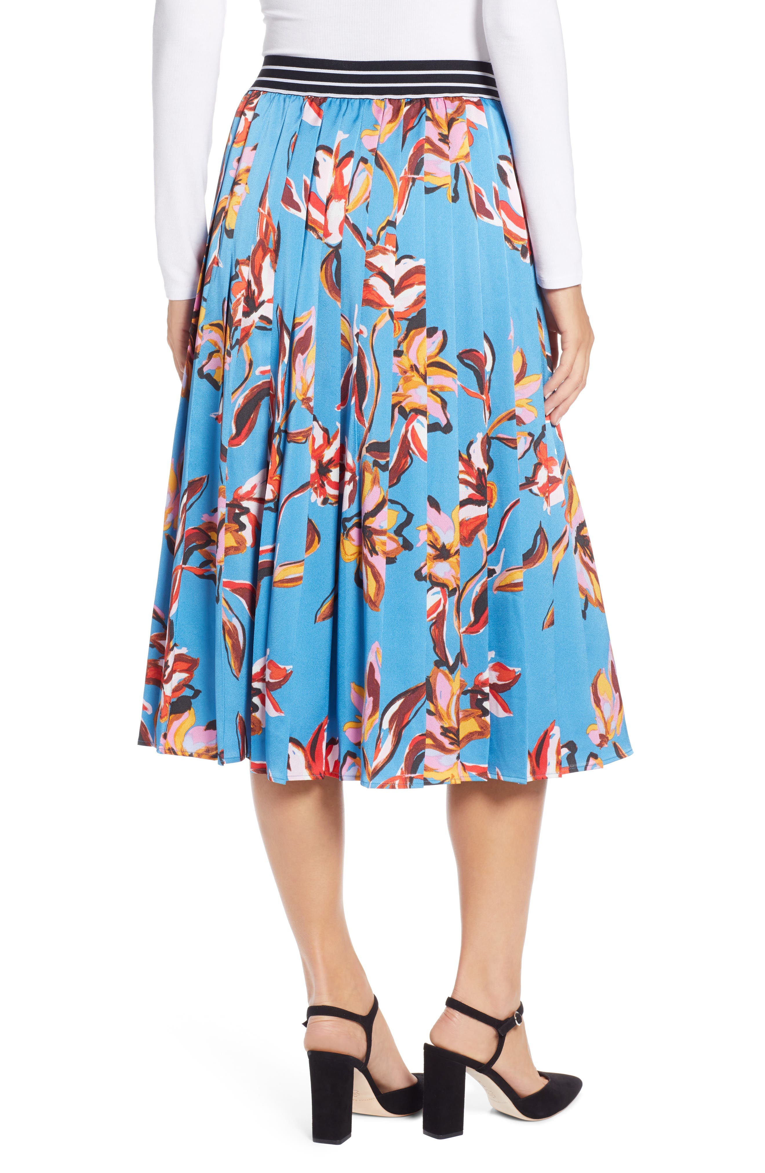 HALOGEN<SUP>®</SUP>,                             Printed Pleated Skirt,                             Alternate thumbnail 2, color,                             420