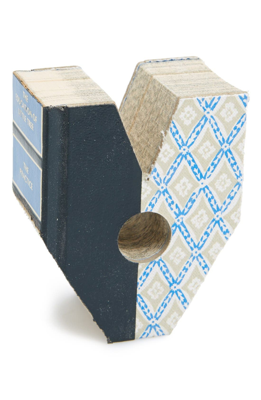 'One of a Kind Letter' Hand Carved Recycled Book Shelf Art,                             Alternate thumbnail 2, color,                             960