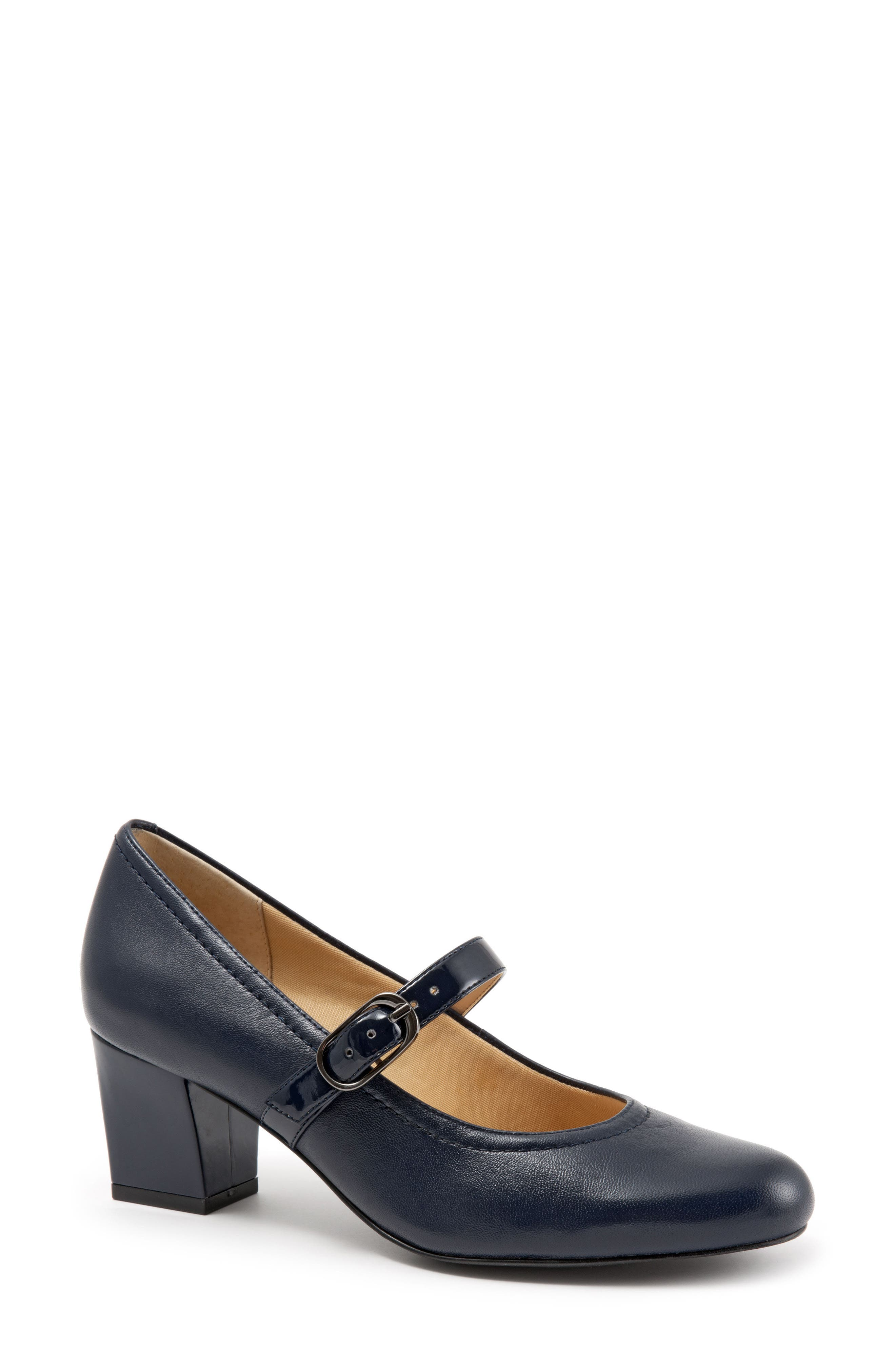'Candice' Mary Jane Pump,                             Main thumbnail 1, color,                             NAVY LEATHER