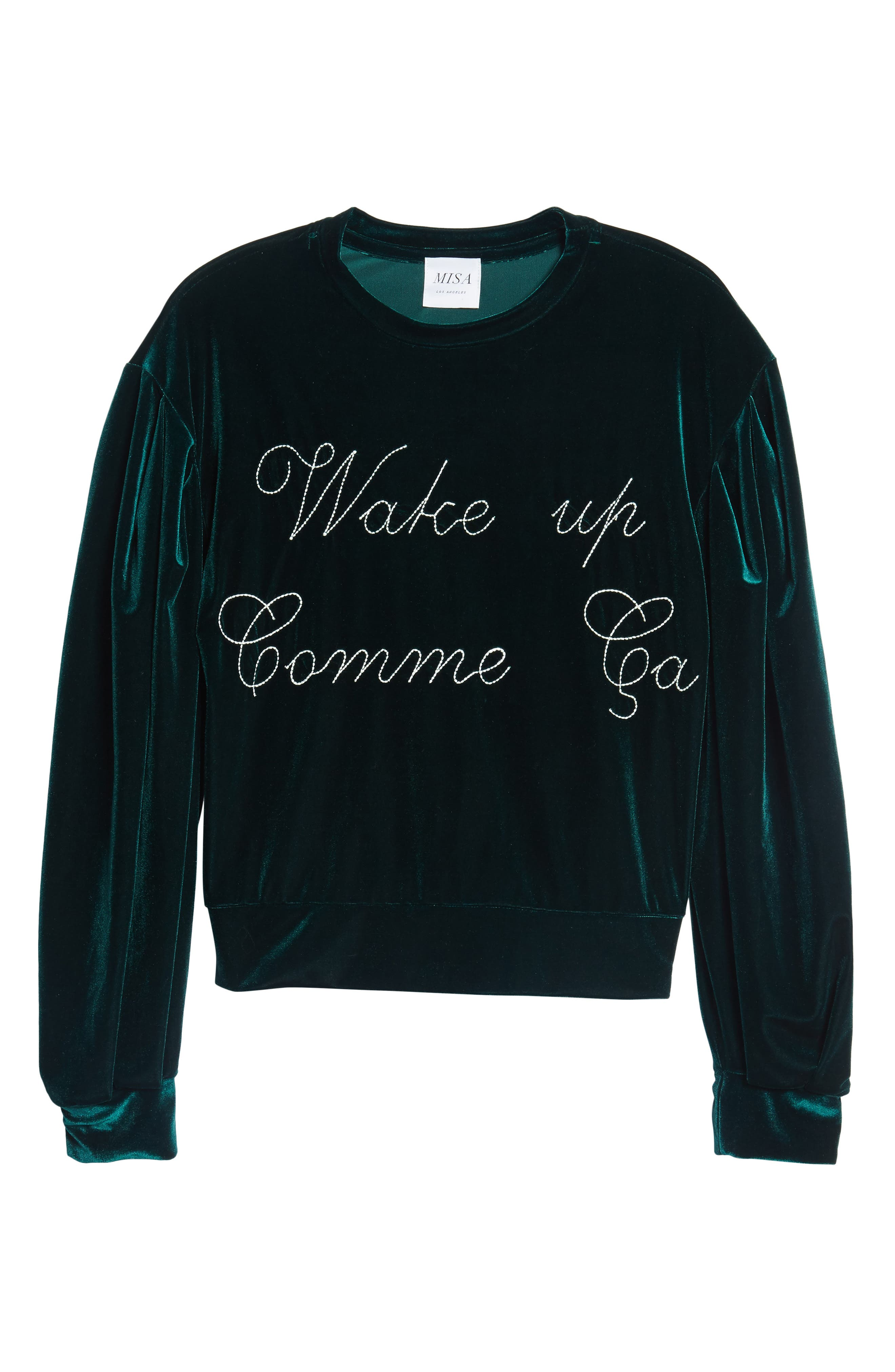 Comme Ca Velvet Sweatshirt,                             Alternate thumbnail 6, color,                             300