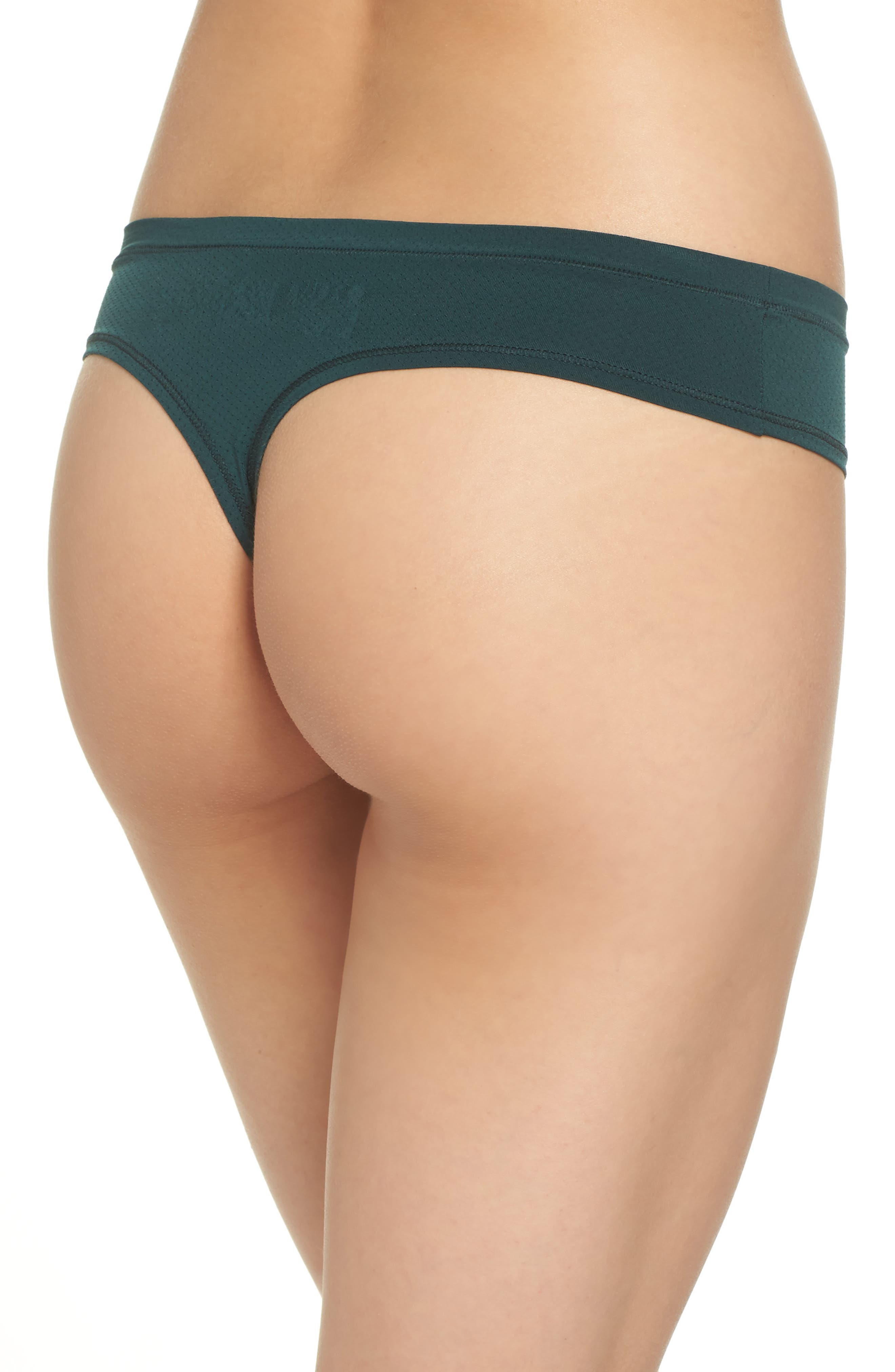 Perforated Active Thong,                             Alternate thumbnail 2, color,                             GREEN PONDEROSA