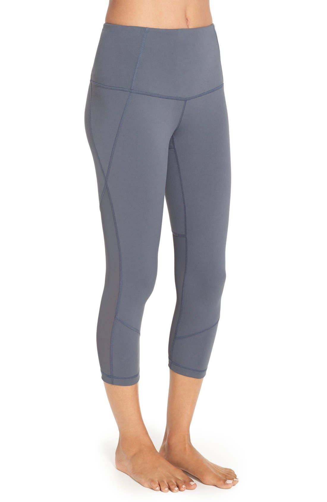 'Live In - Sultry' High Waist Mesh Crop Leggings,                             Alternate thumbnail 29, color,