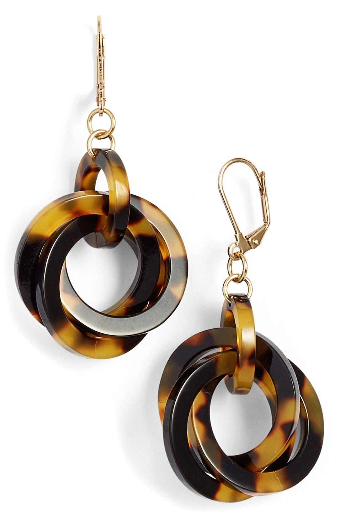 'Twisted Loops' Drop Earrings,                             Main thumbnail 5, color,
