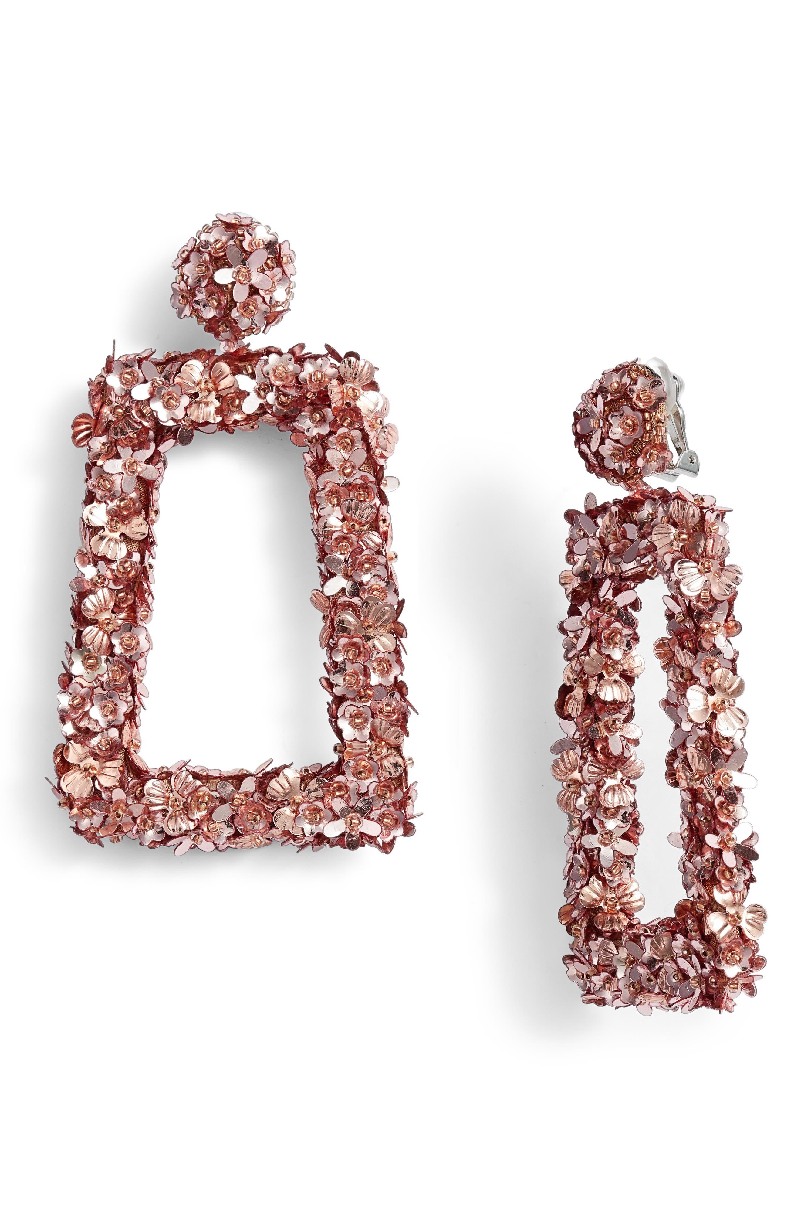 Sachin Babi Noir Fleur Dusk Earrings In Rose Gold Modesens