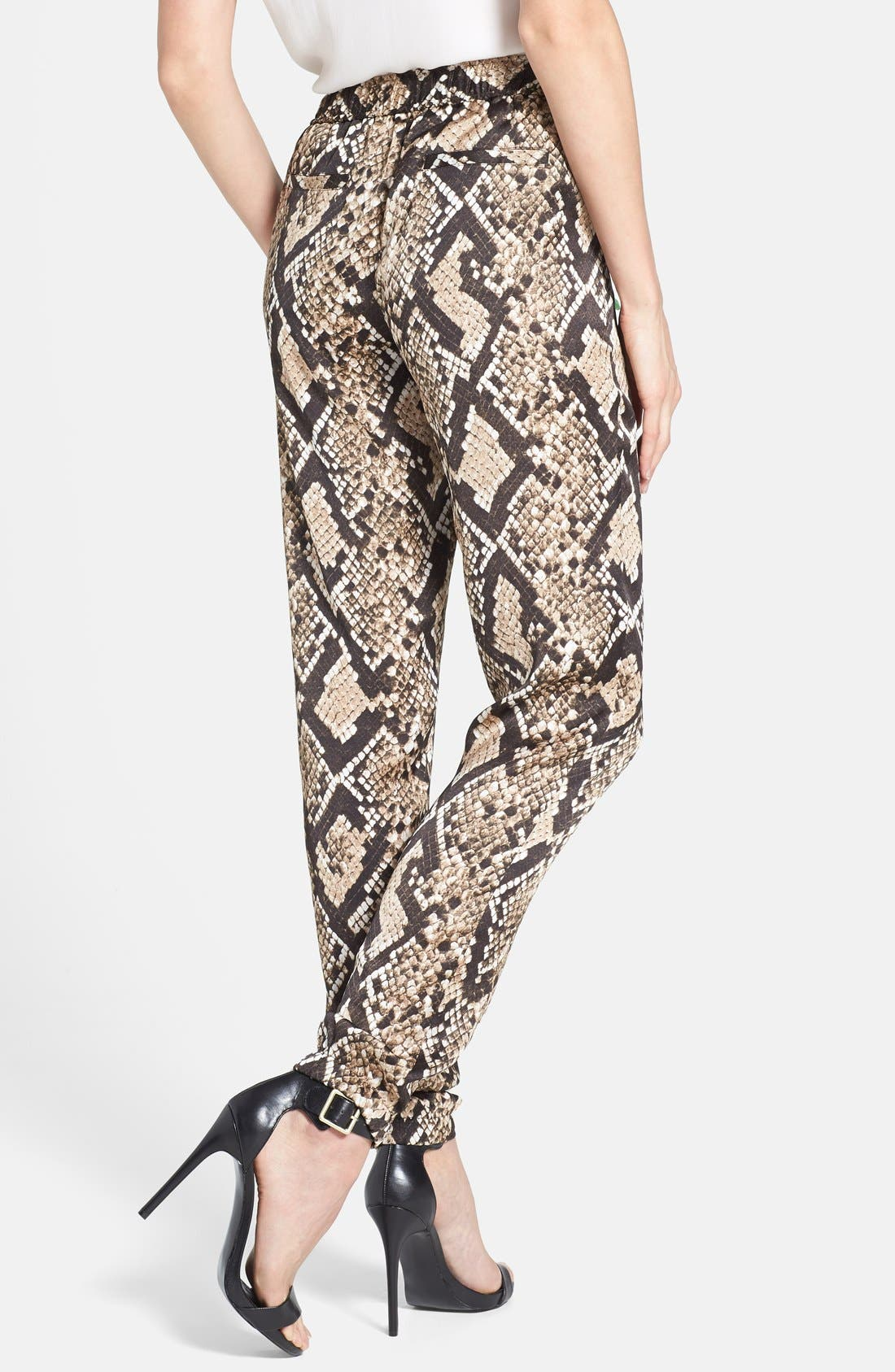 Snakeskin Print Track Pants,                             Alternate thumbnail 2, color,                             249