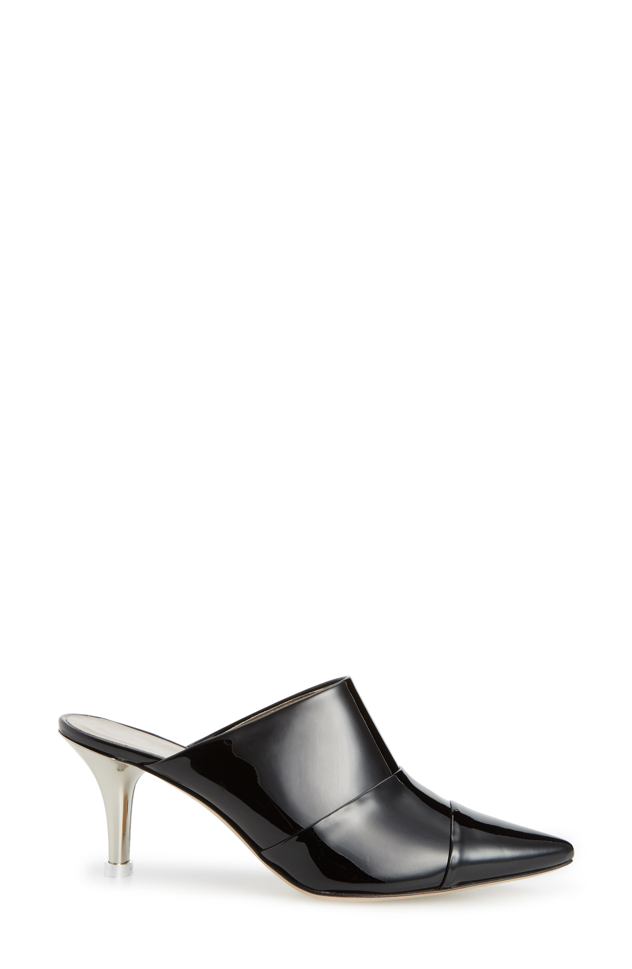Pointy Toe Mule,                             Alternate thumbnail 3, color,                             001
