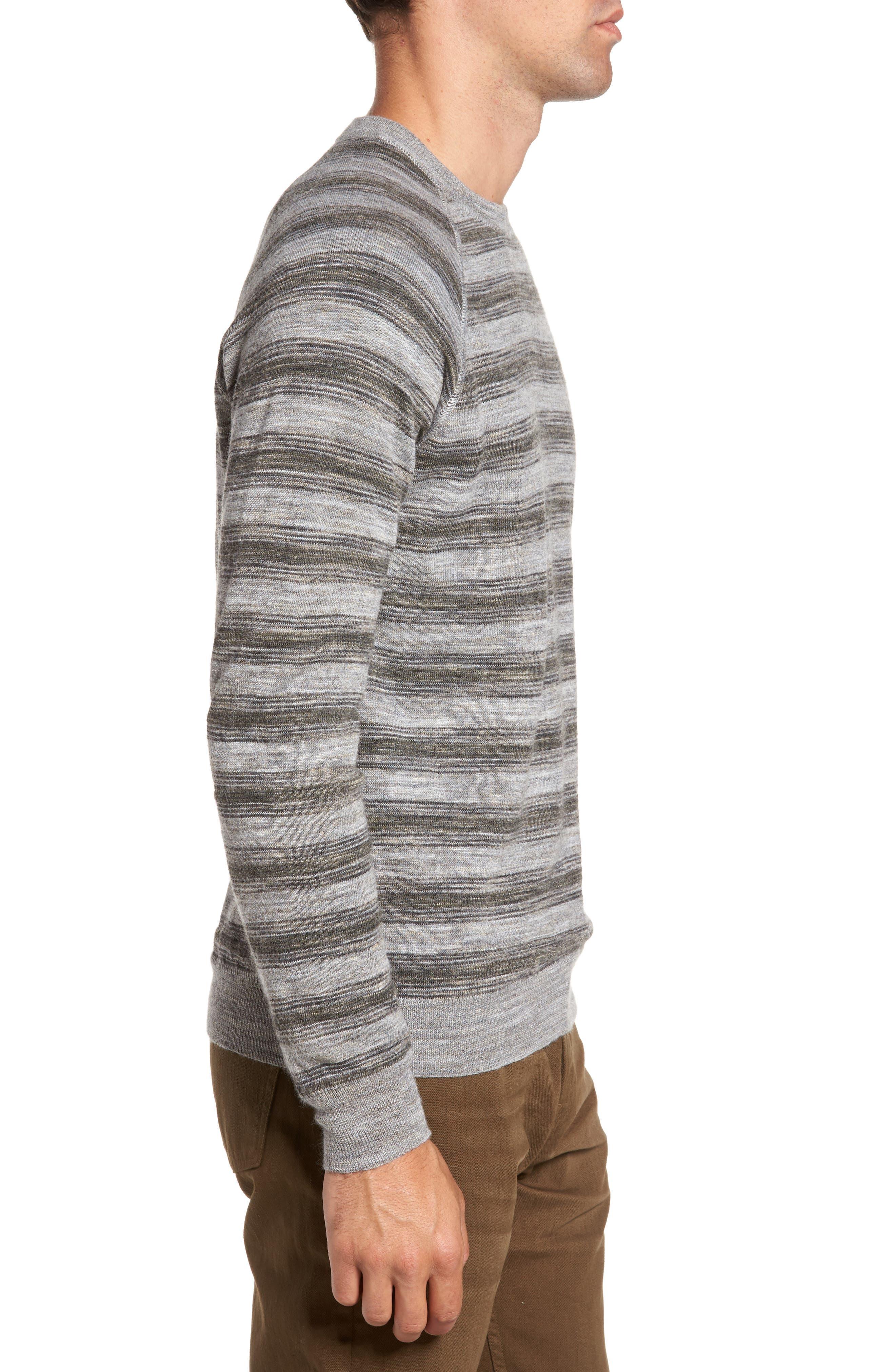 Reverse Stripe Sweater,                             Alternate thumbnail 3, color,                             036