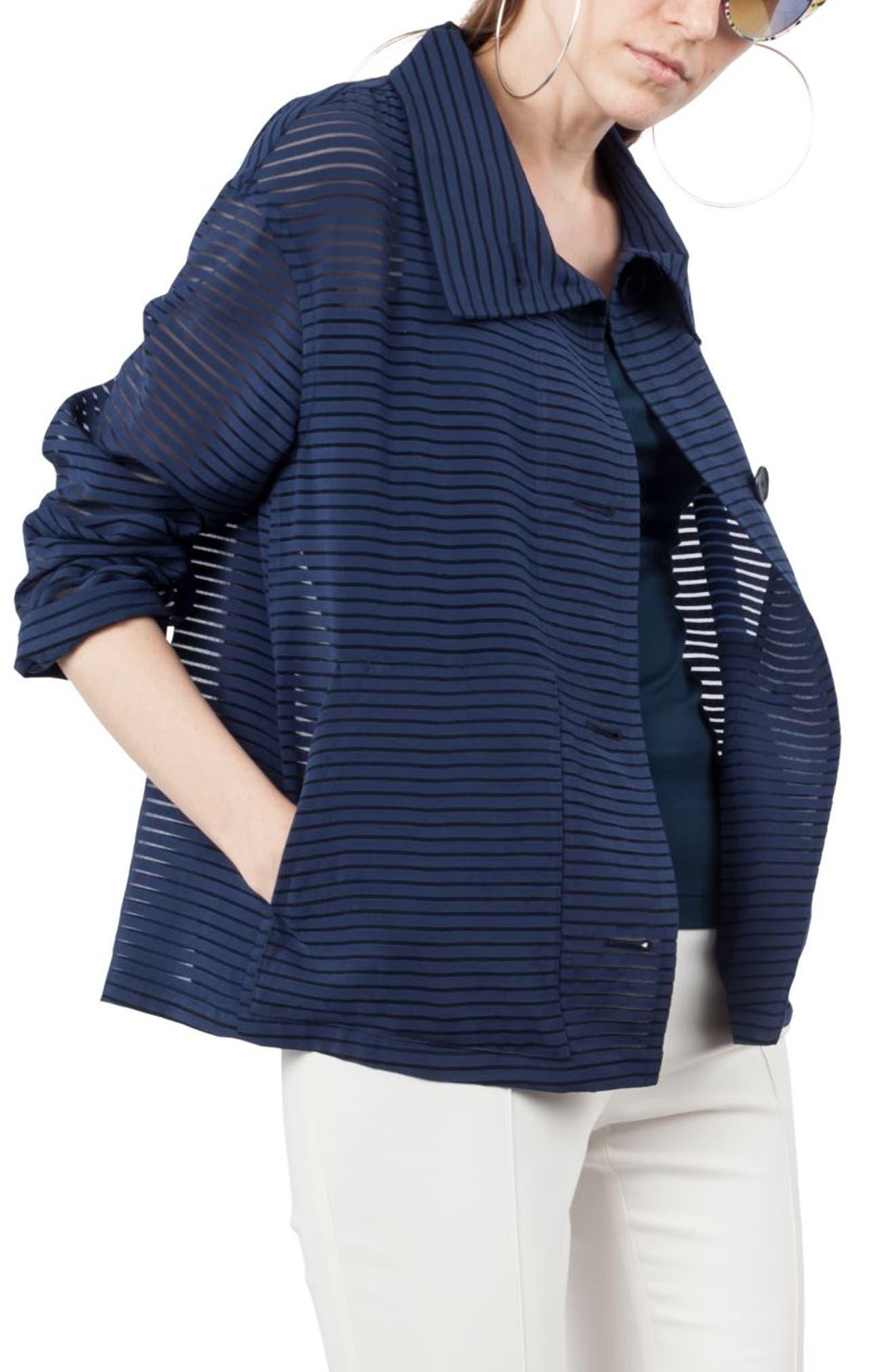 Illusion Stripe Jacket,                             Alternate thumbnail 3, color,                             478