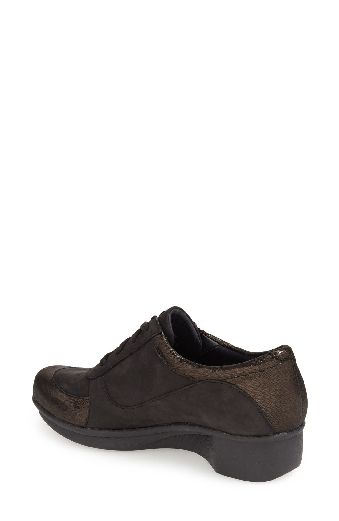 DANSKO,                             'Loretta' Platform Sneaker,                             Alternate thumbnail 2, color,                             001