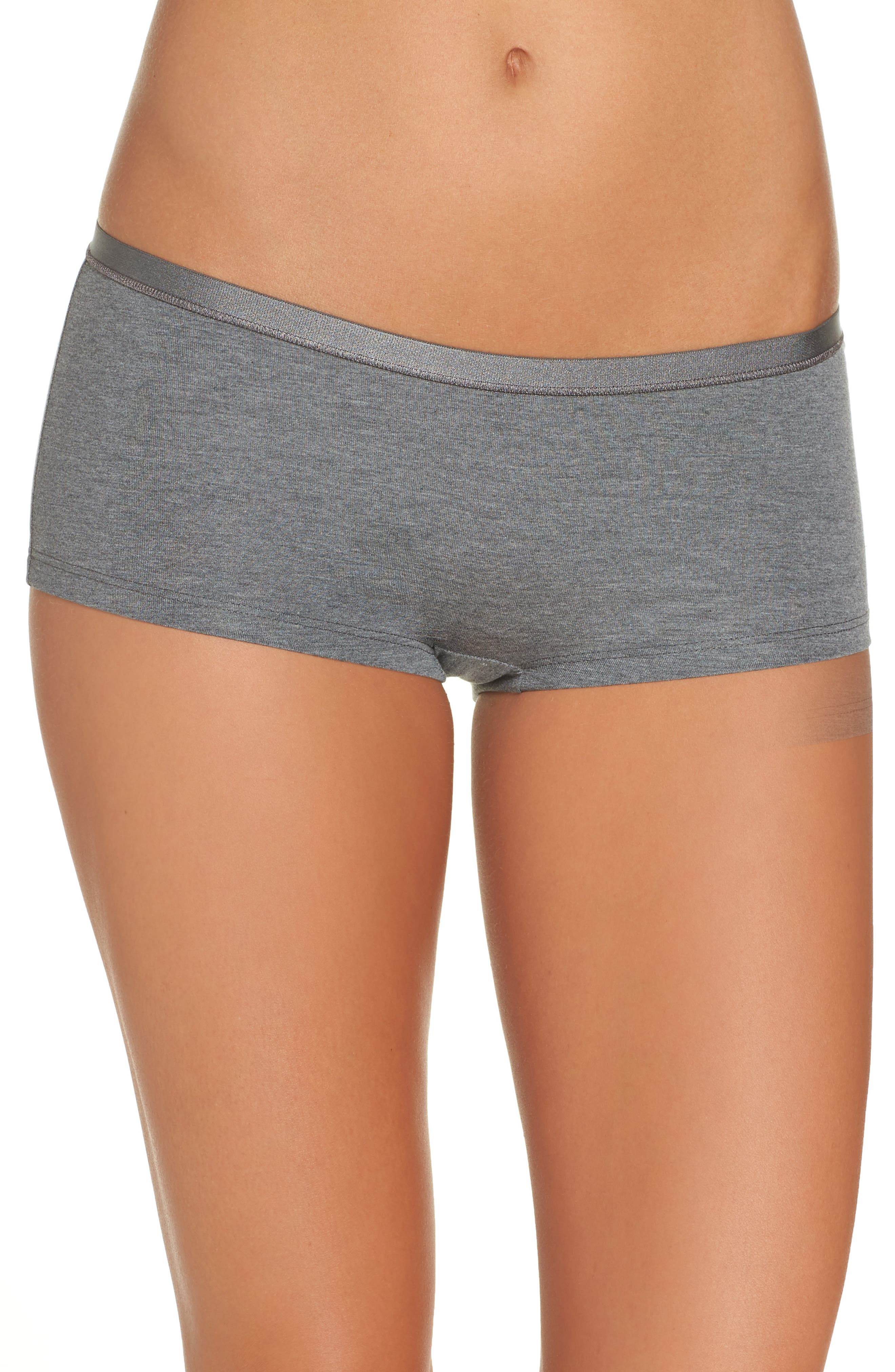 Soft Touch Stretch Modal Boyshorts,                             Main thumbnail 1, color,                             SOFT TOUCH MELANGE