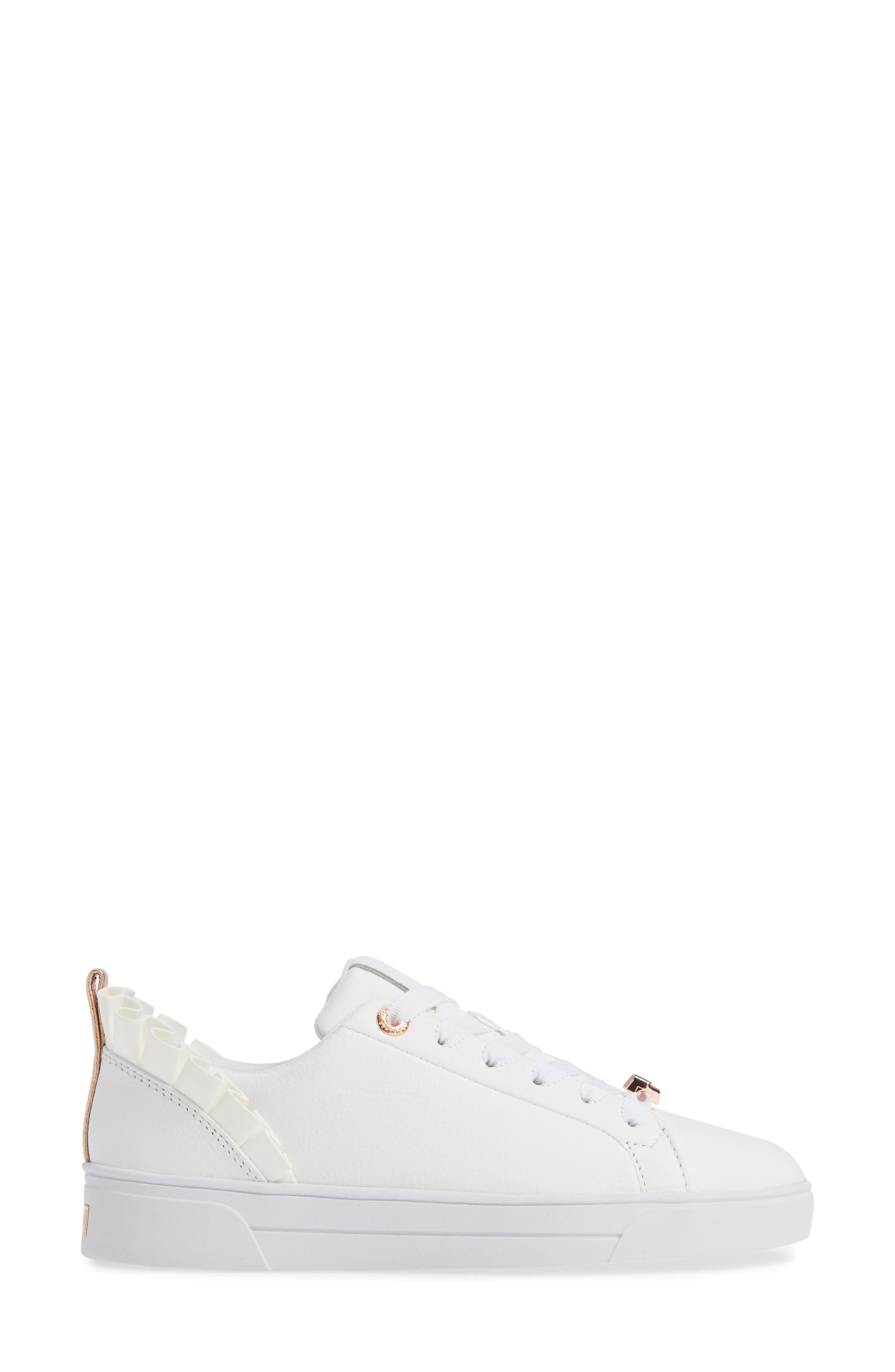 Astrina Sneaker,                             Alternate thumbnail 3, color,                             WHITE LEATHER