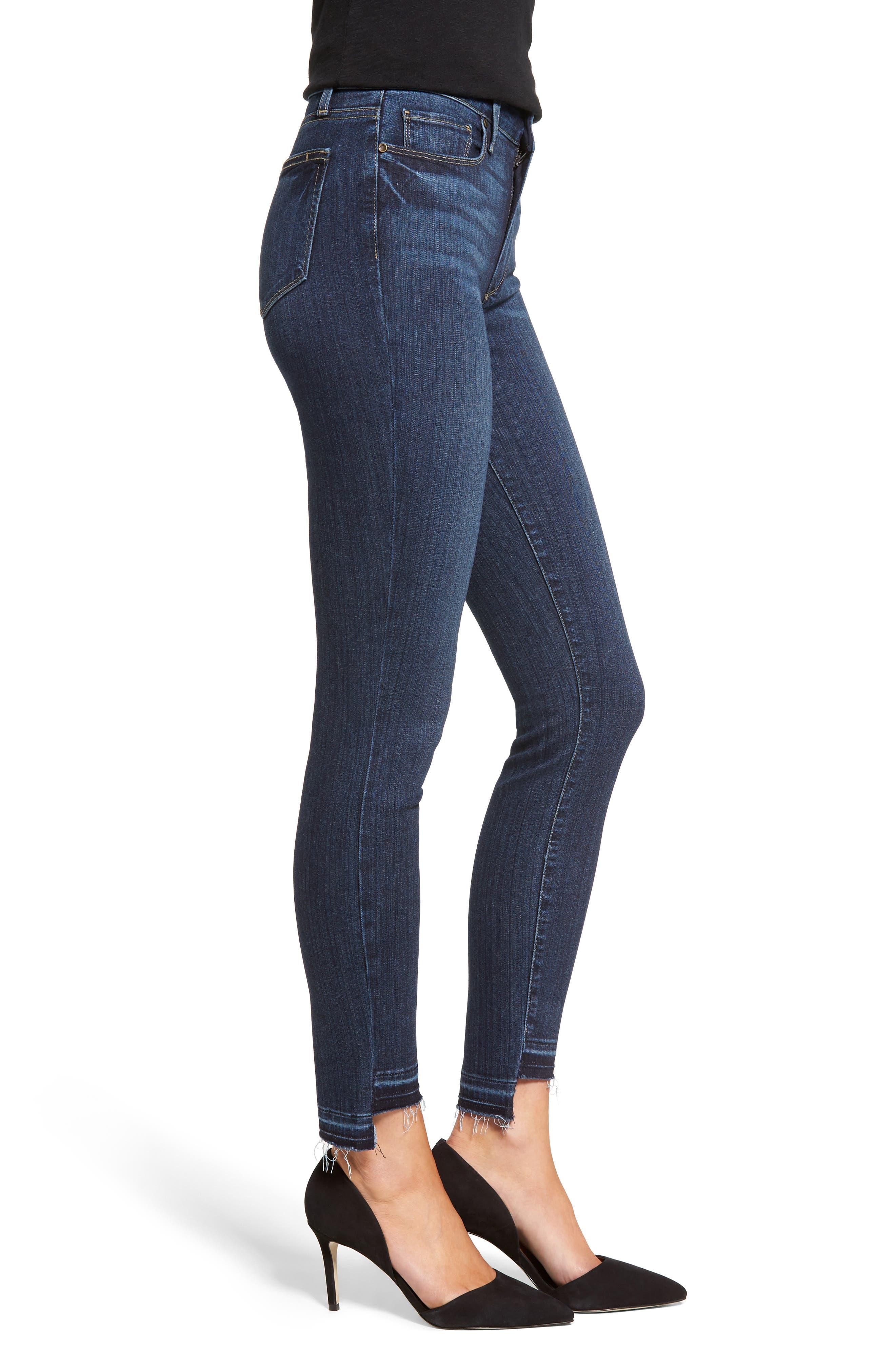 Hoxton High Waist Skinny Jeans,                             Alternate thumbnail 3, color,                             400