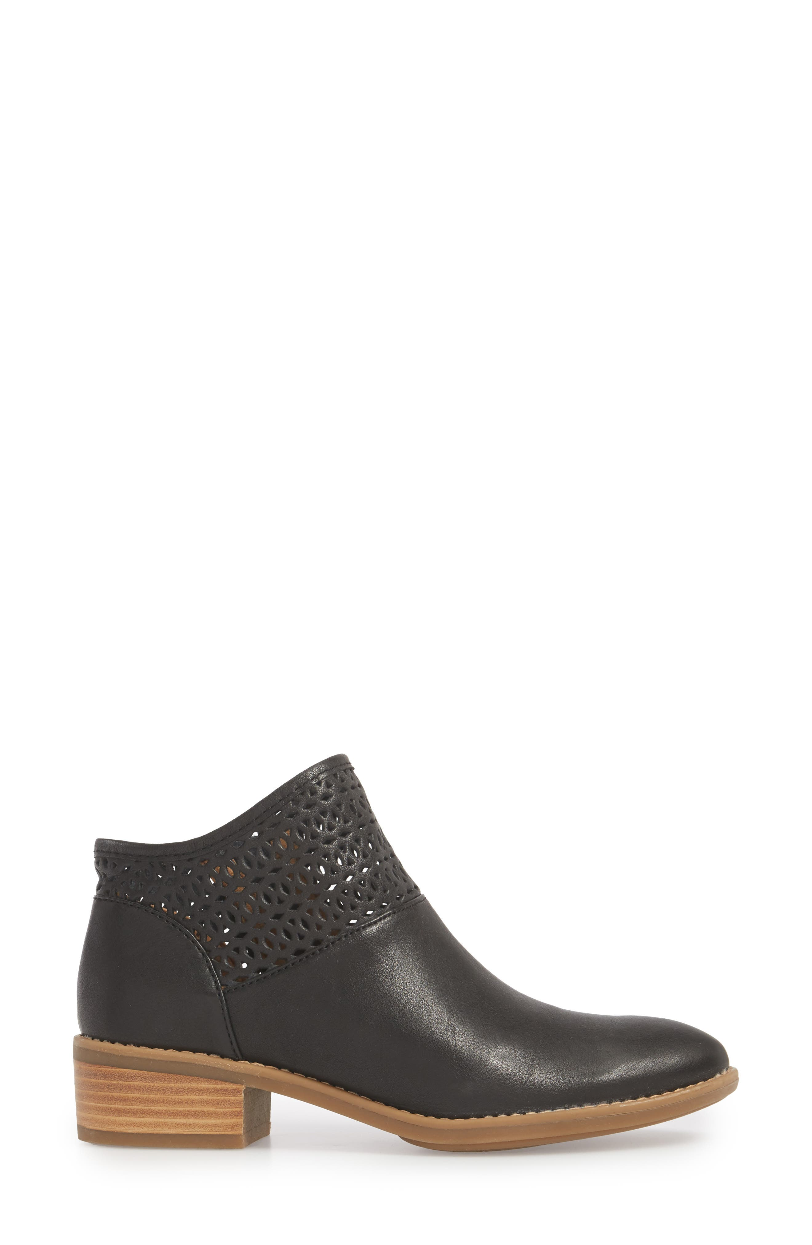 Caileen Bootie,                             Alternate thumbnail 3, color,                             BLACK