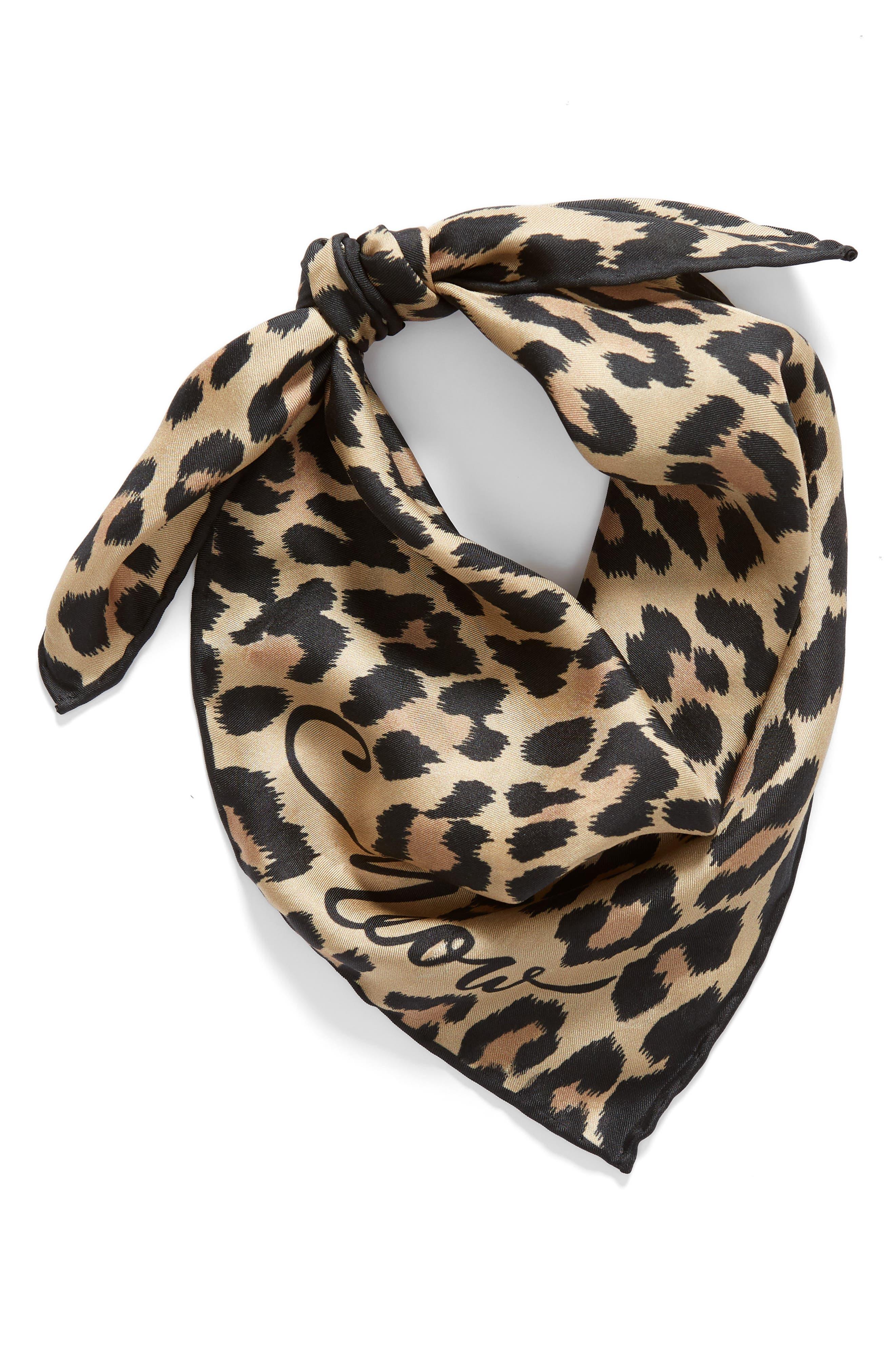 leopard silk bandana,                             Alternate thumbnail 2, color,                             200