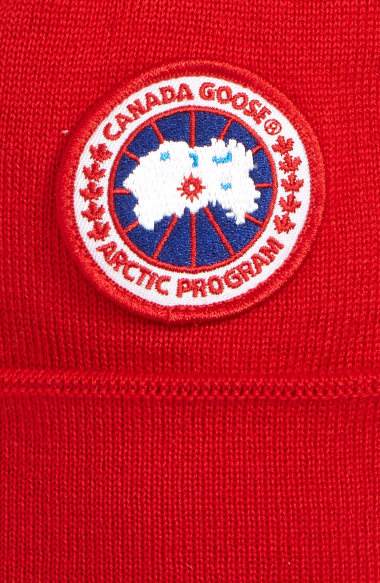 Wool Pom Toque,                             Alternate thumbnail 2, color,                             RED