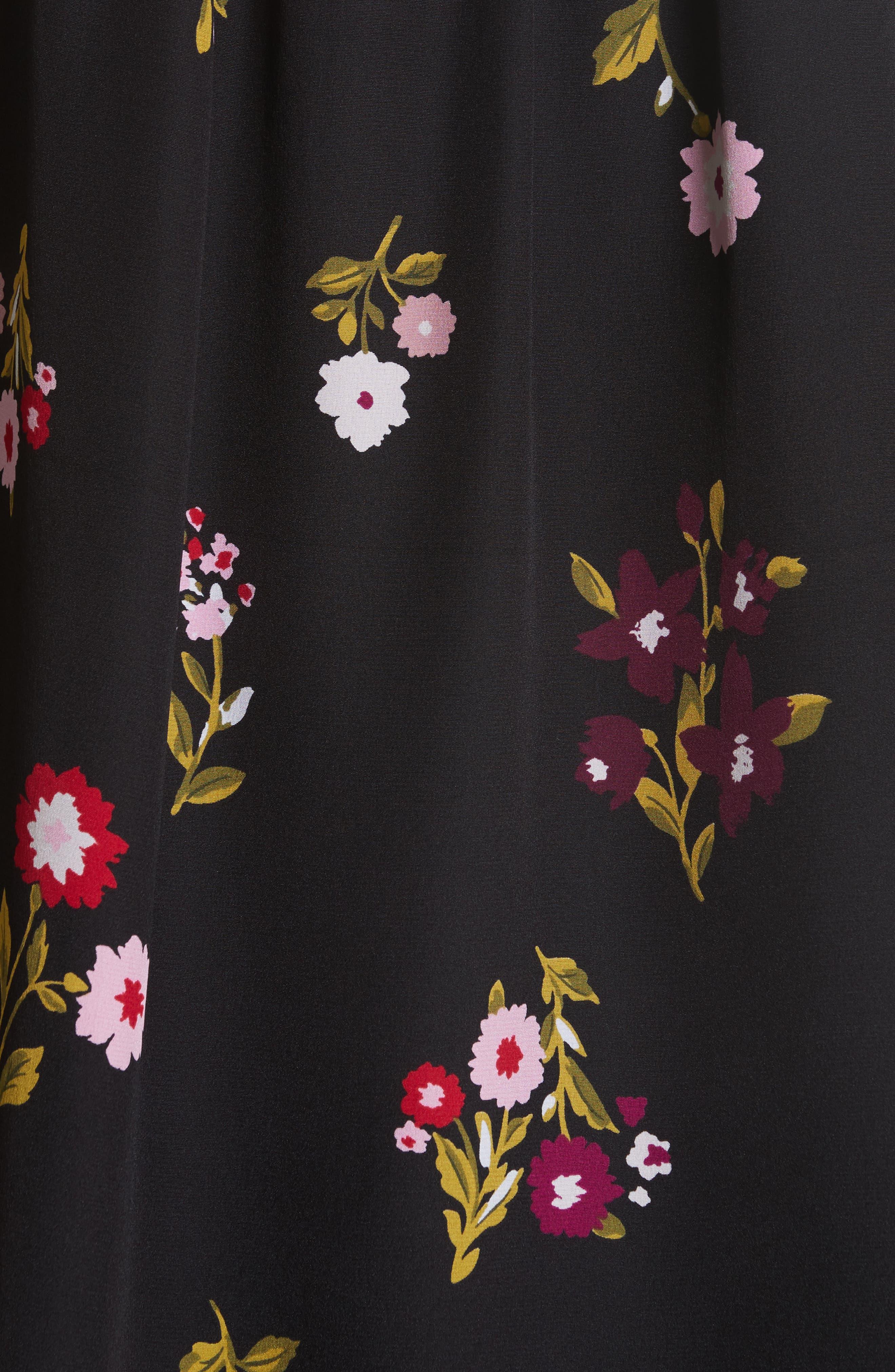 in bloom silk top,                             Alternate thumbnail 5, color,                             006