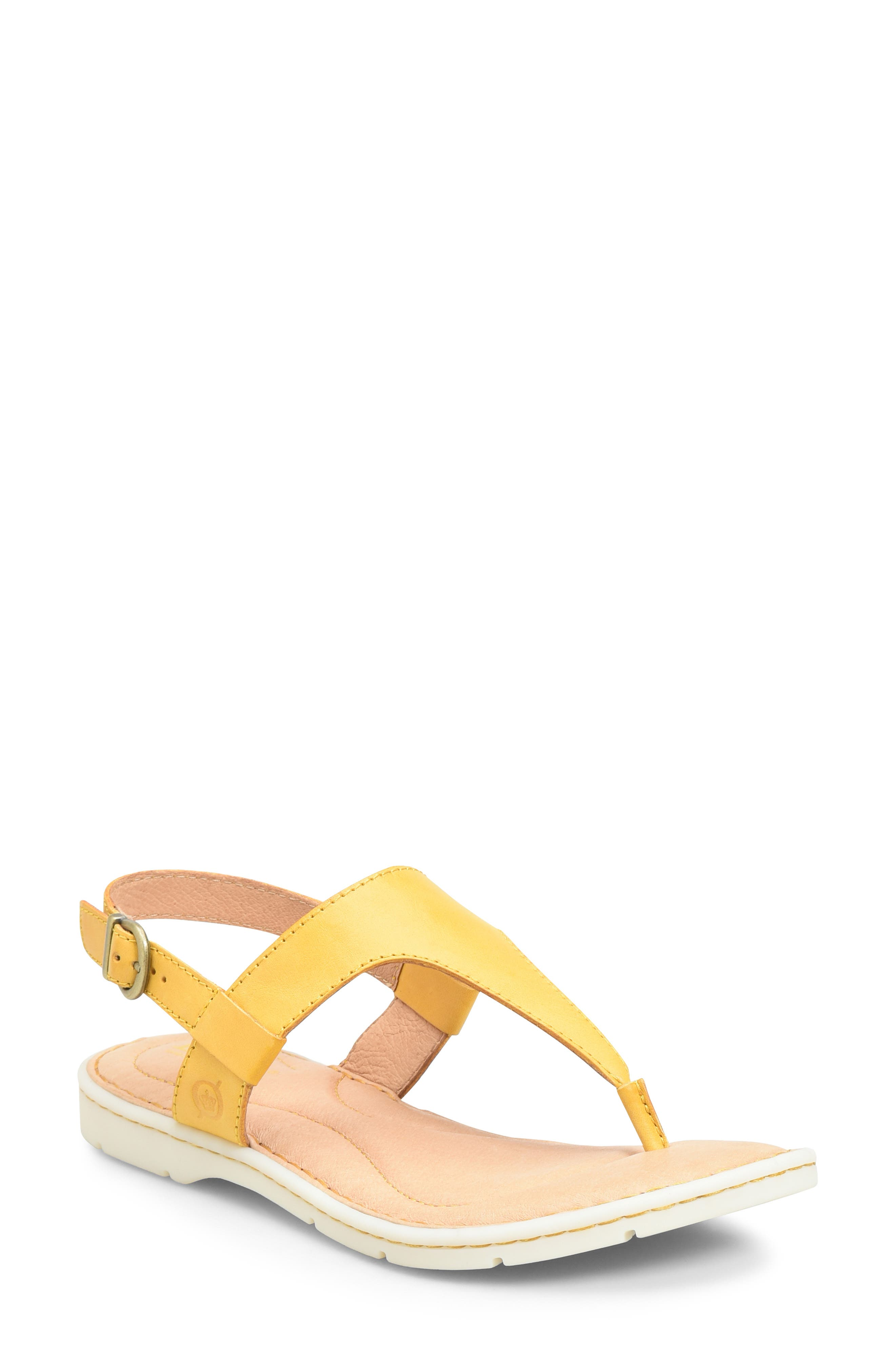 B?rn Taylor V-Strap Sandal, Yellow