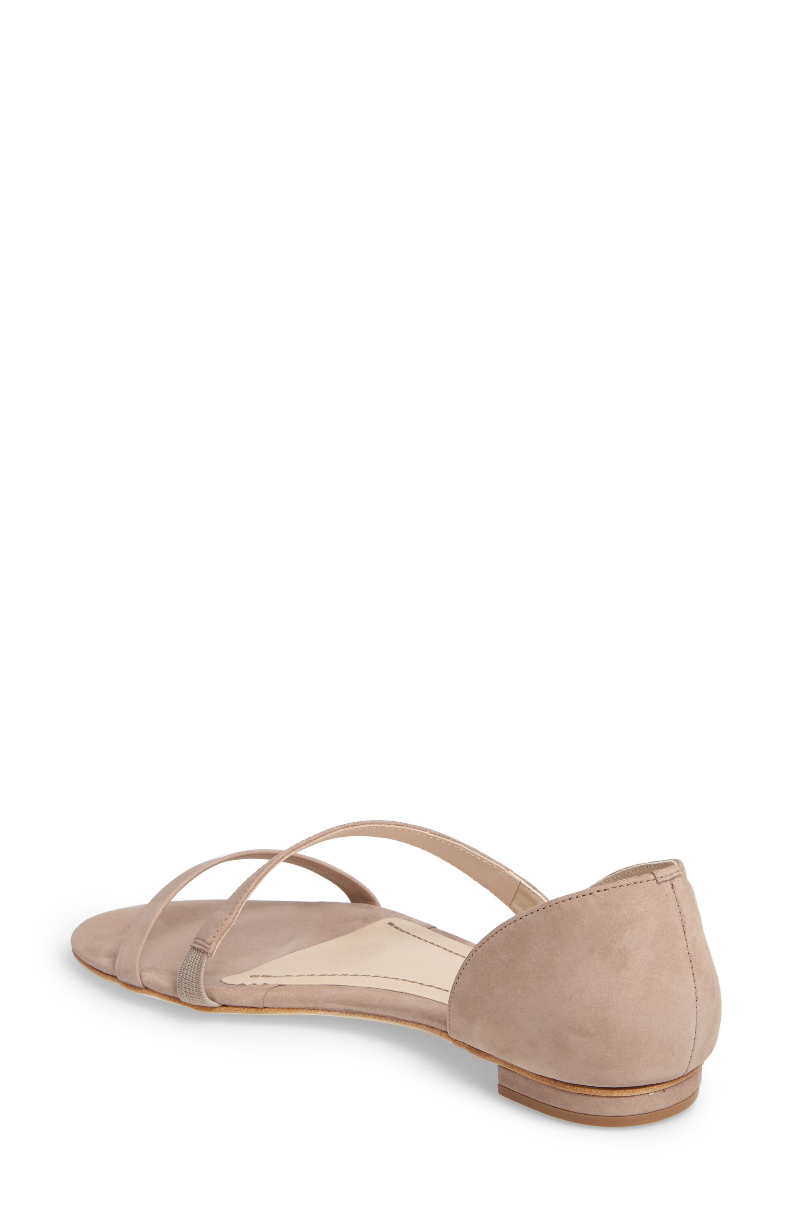 Jeanne Sandal,                             Alternate thumbnail 2, color,                             TAUPE LEATHER