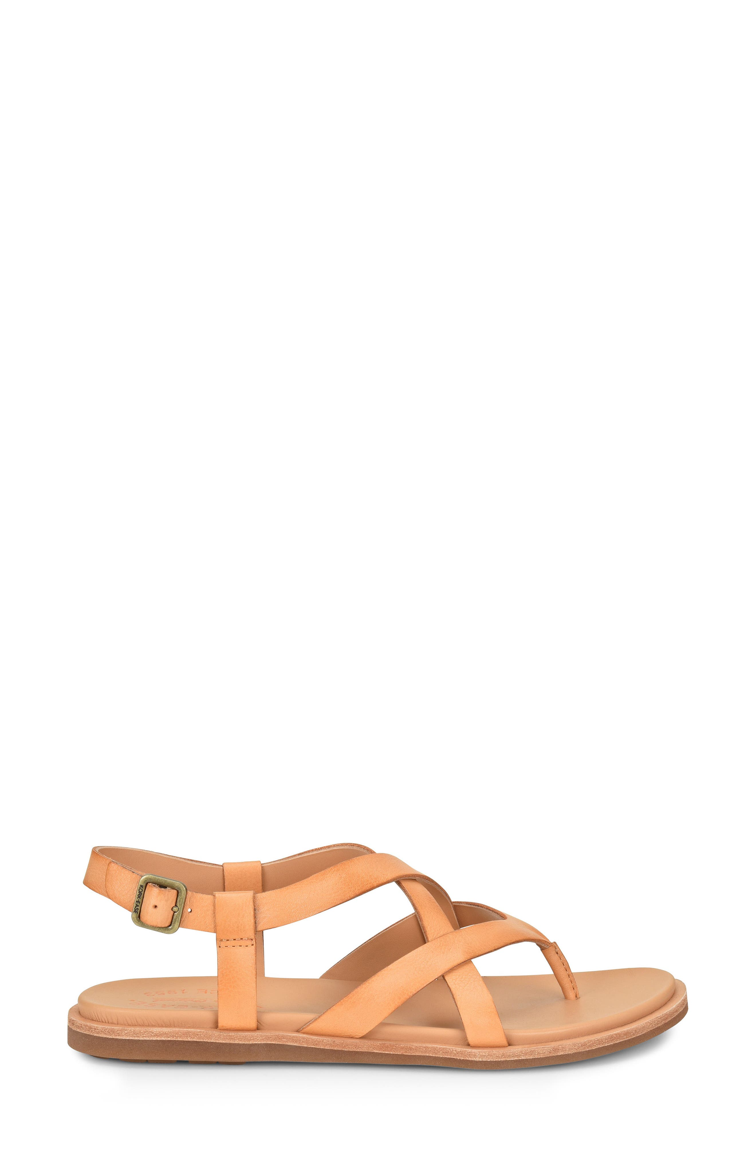 Yarbrough Sandal,                             Alternate thumbnail 3, color,                             ORANGE LEATHER