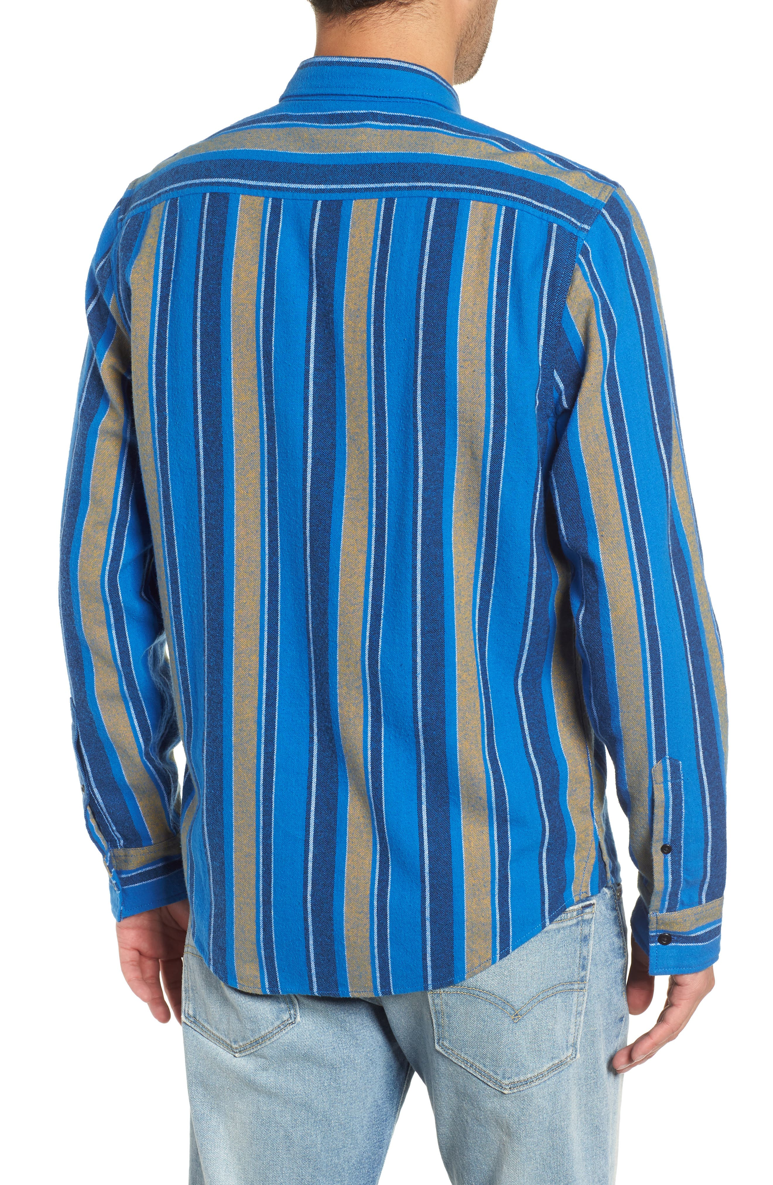 Stripe Flannel Shirt,                             Alternate thumbnail 2, color,                             420