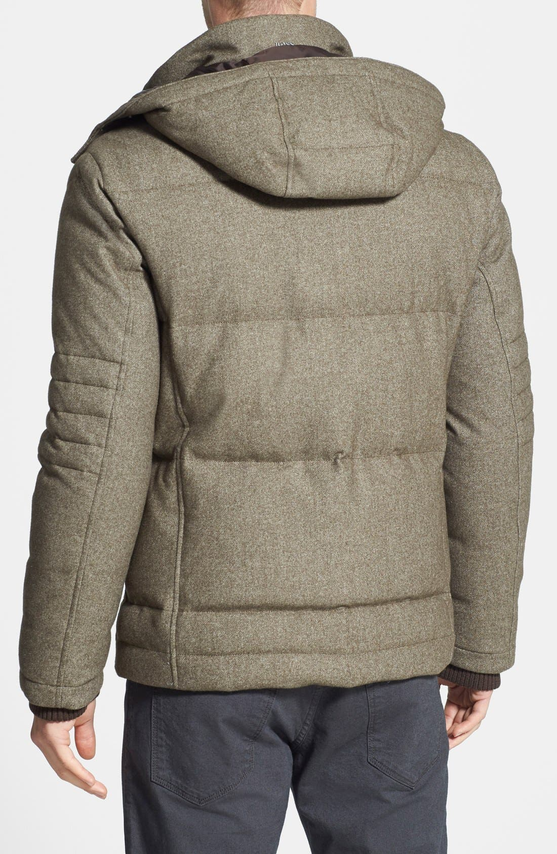 HUGO BOSS 'Dery' Quilted Down Coat,                             Alternate thumbnail 3, color,                             245