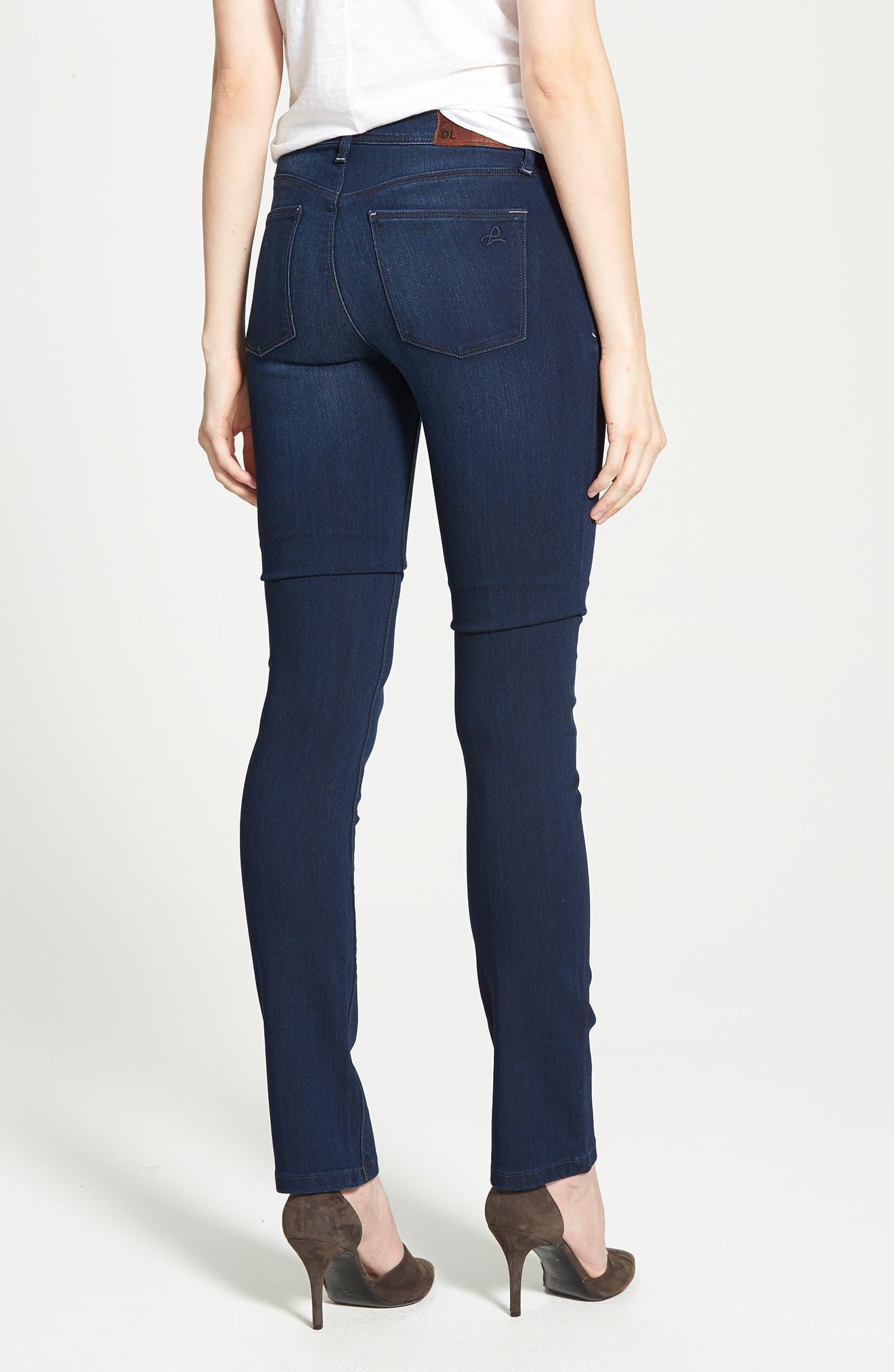 'Grace' Straight Jeans,                             Alternate thumbnail 8, color,                             405