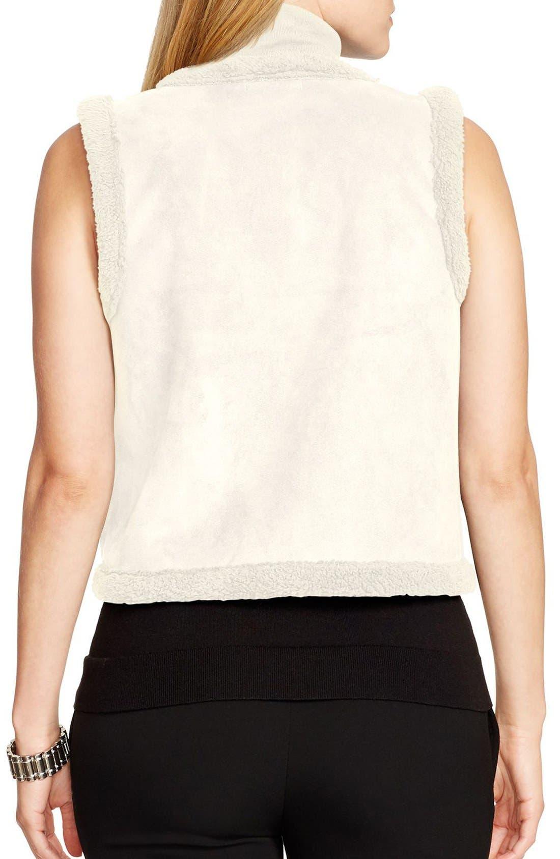 Faux Shearling Vest,                             Alternate thumbnail 2, color,                             250