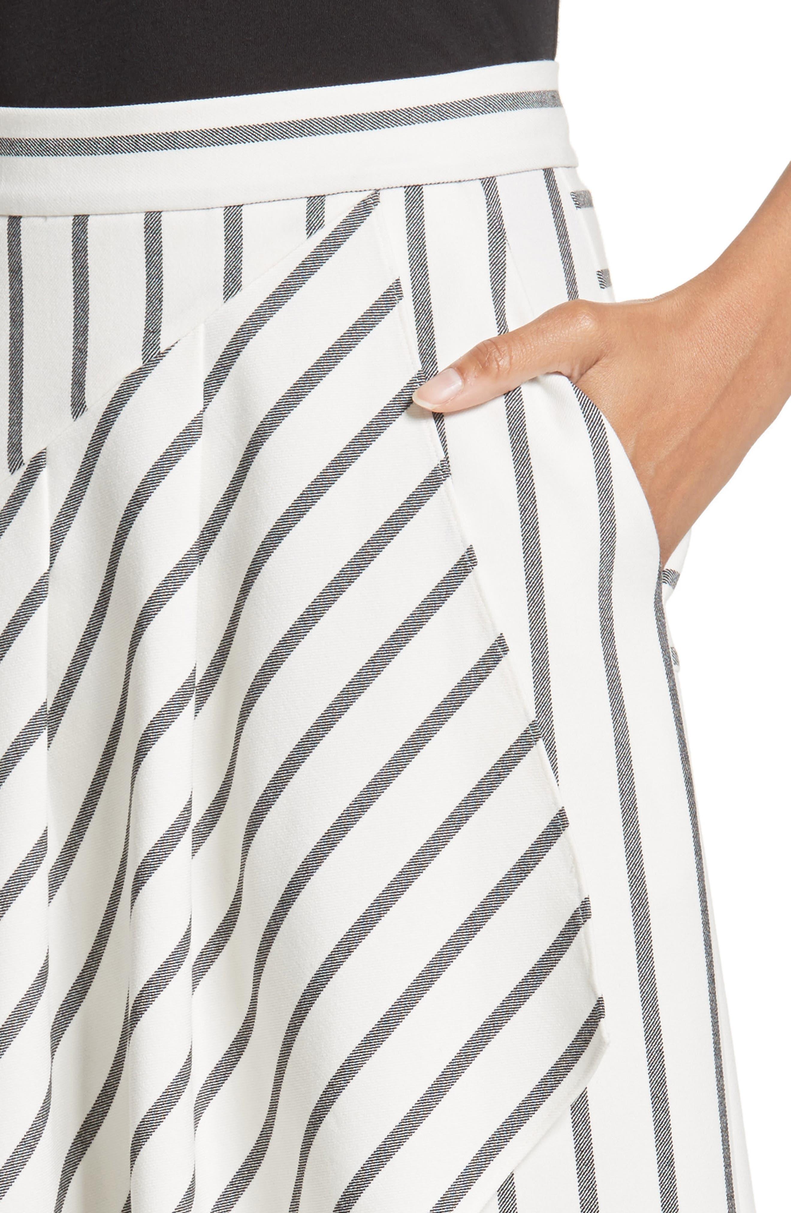 Lucci Stripe Midi Skirt,                             Alternate thumbnail 4, color,
