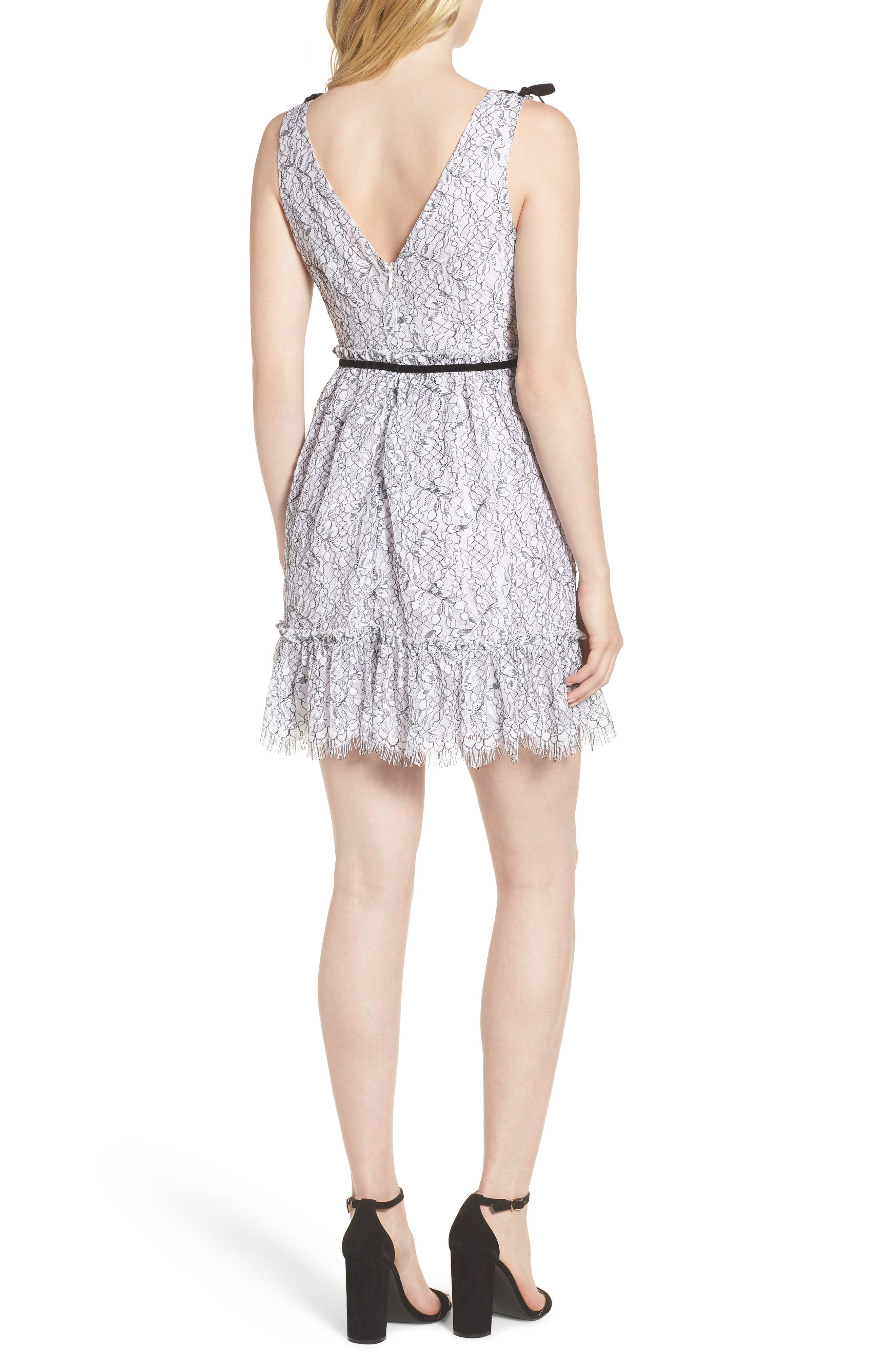 Ezzy Lace Dress,                             Alternate thumbnail 2, color,                             IVORY