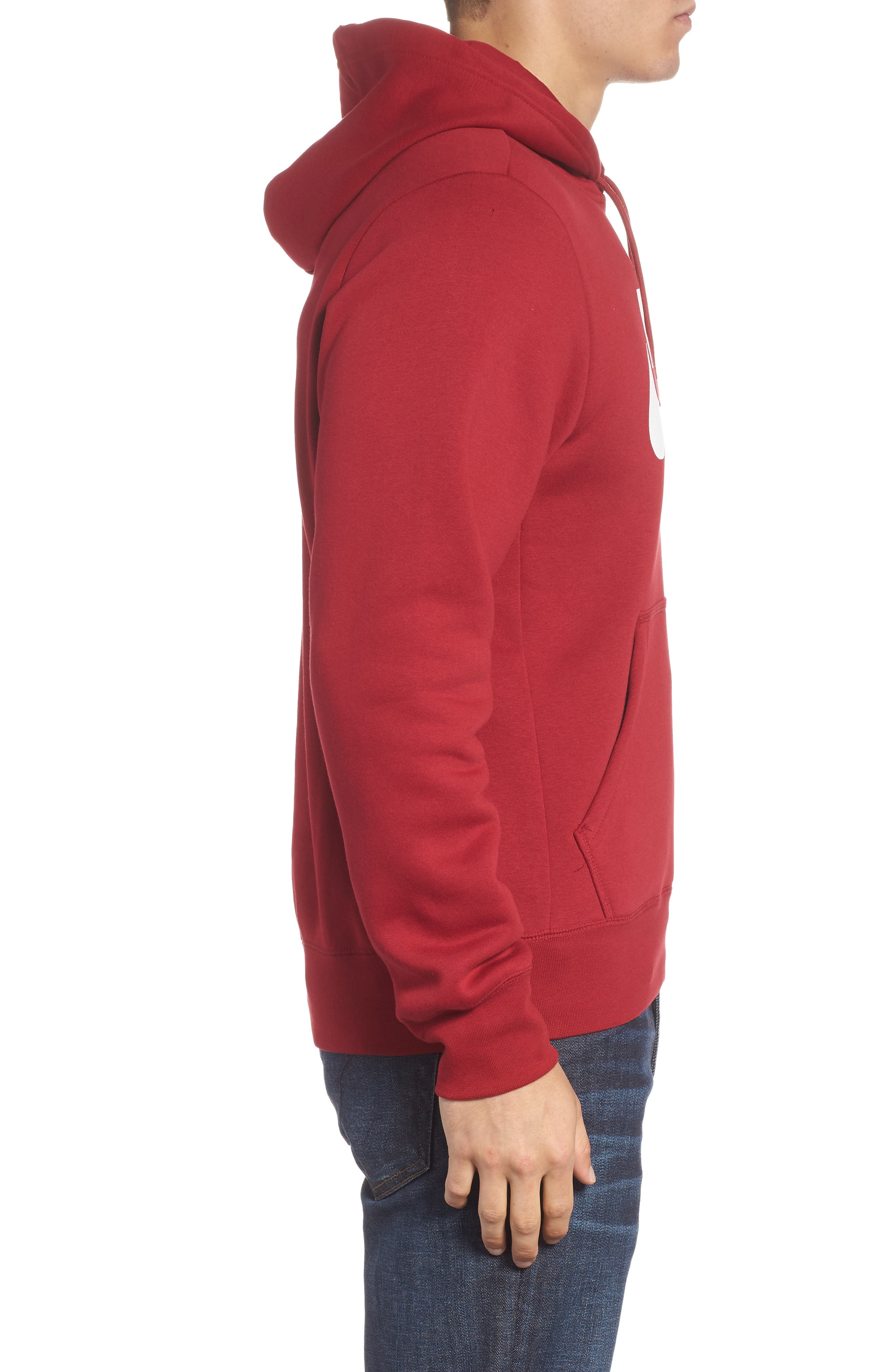 NIKE SB,                             Icon Essential Hoodie,                             Alternate thumbnail 3, color,                             RED CRUSH