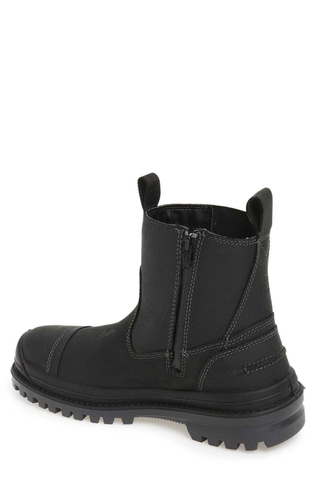 Griffon Snow Waterproof Boot,                             Alternate thumbnail 2, color,                             BLACK LEATHER