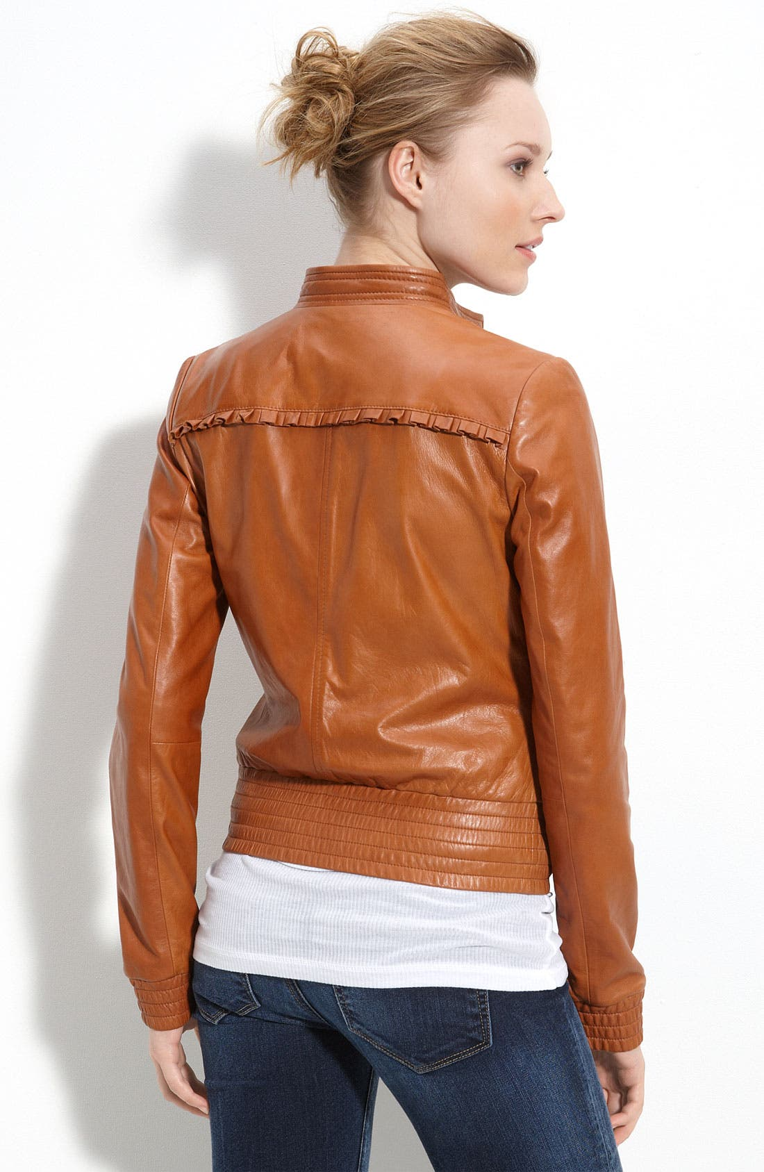 'Boho' Leather Jacket,                             Alternate thumbnail 2, color,                             200