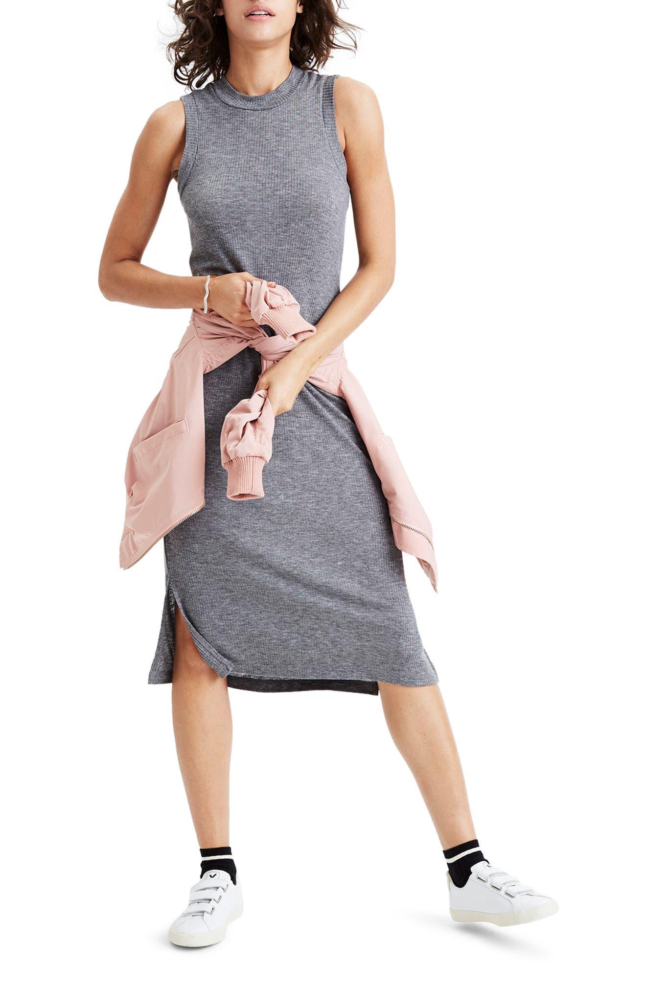 Mock Neck Midi Dress,                             Alternate thumbnail 5, color,                             021