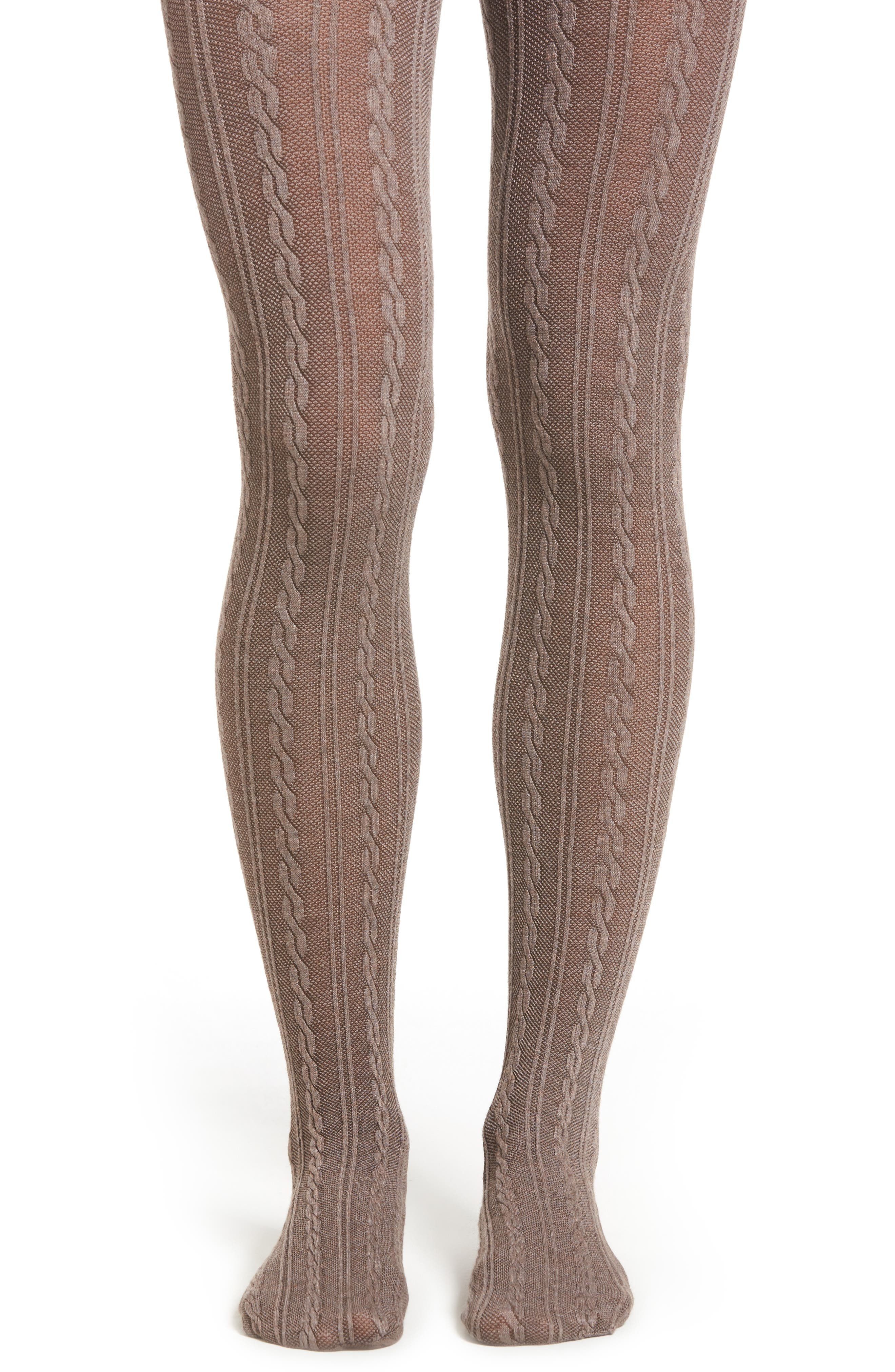 Cable Sweater Tights, Main, color, 200